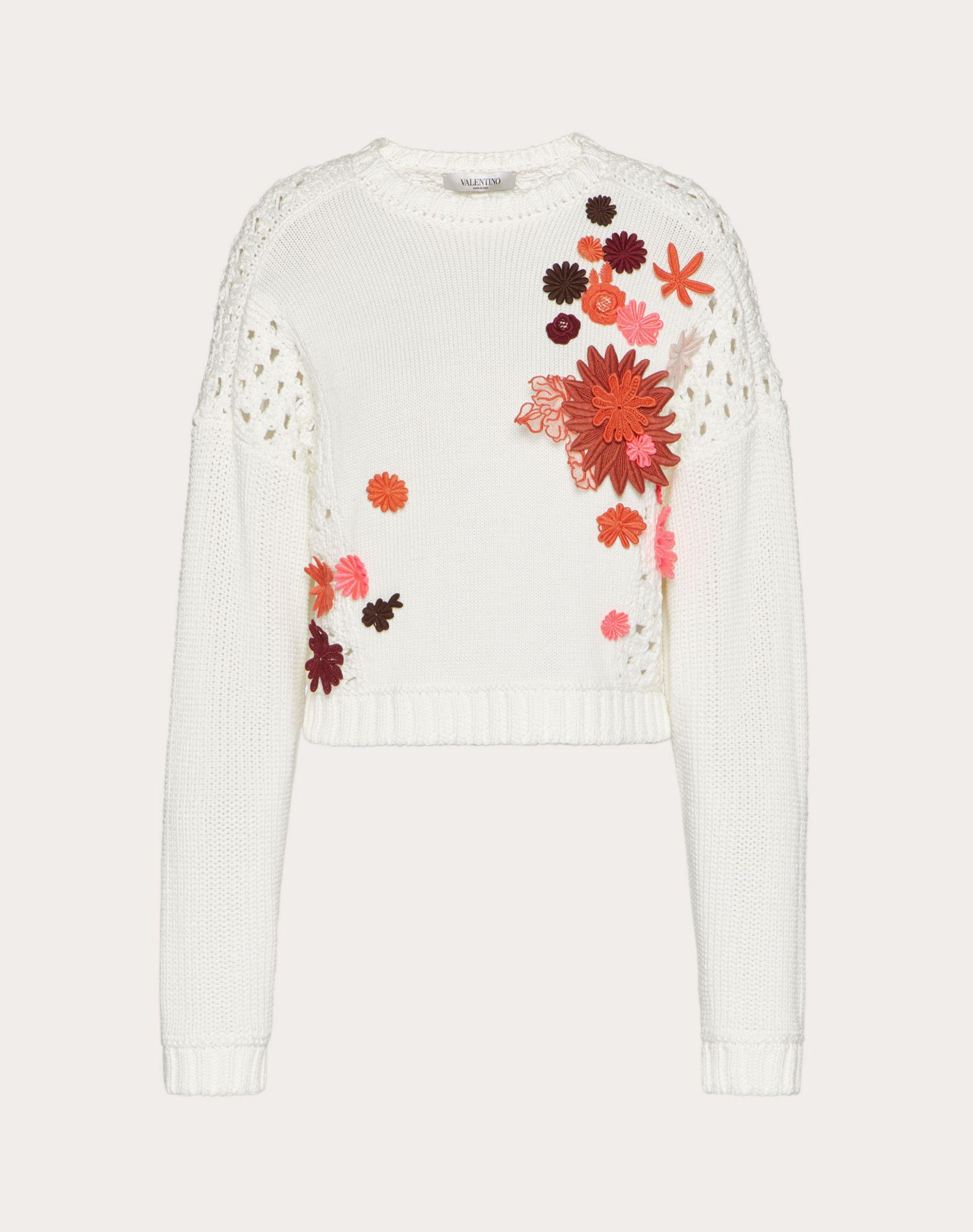 EMBROIDERED COTTON SWEATER 4