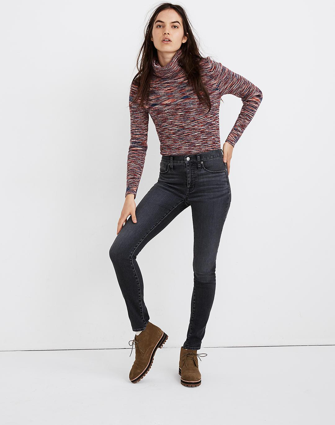 """Petite 9"""" Mid-Rise Skinny Jeans in Clarksville Wash"""