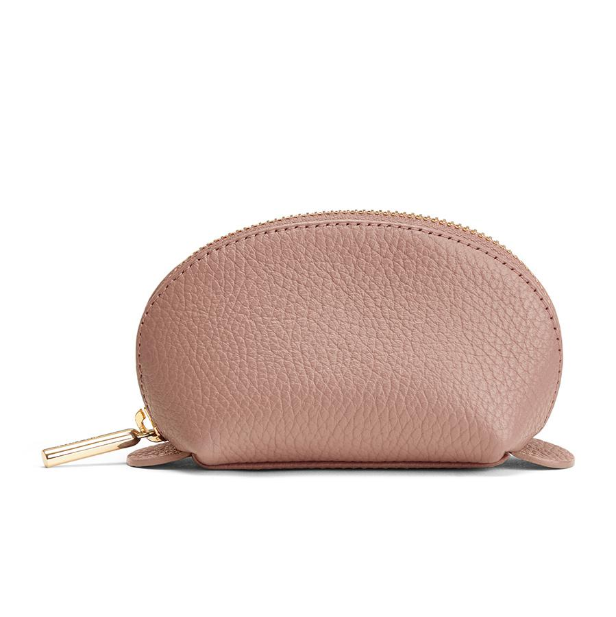 Women's Mini Travel Case in Soft Rose | Pebbled Leather by Cuyana