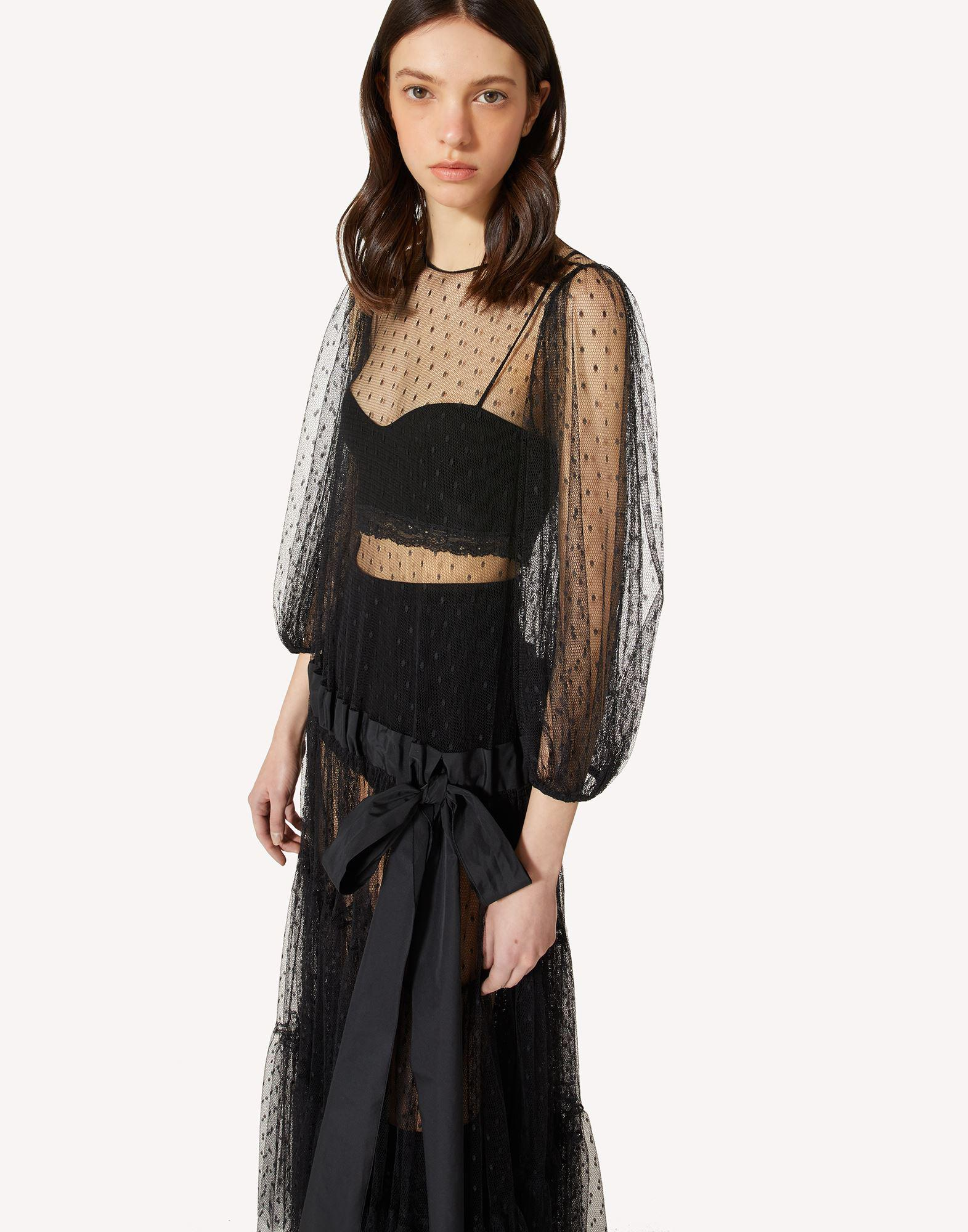 POINT D'ESPRIT TULLE DRESS WITH DRAWSTRING 3