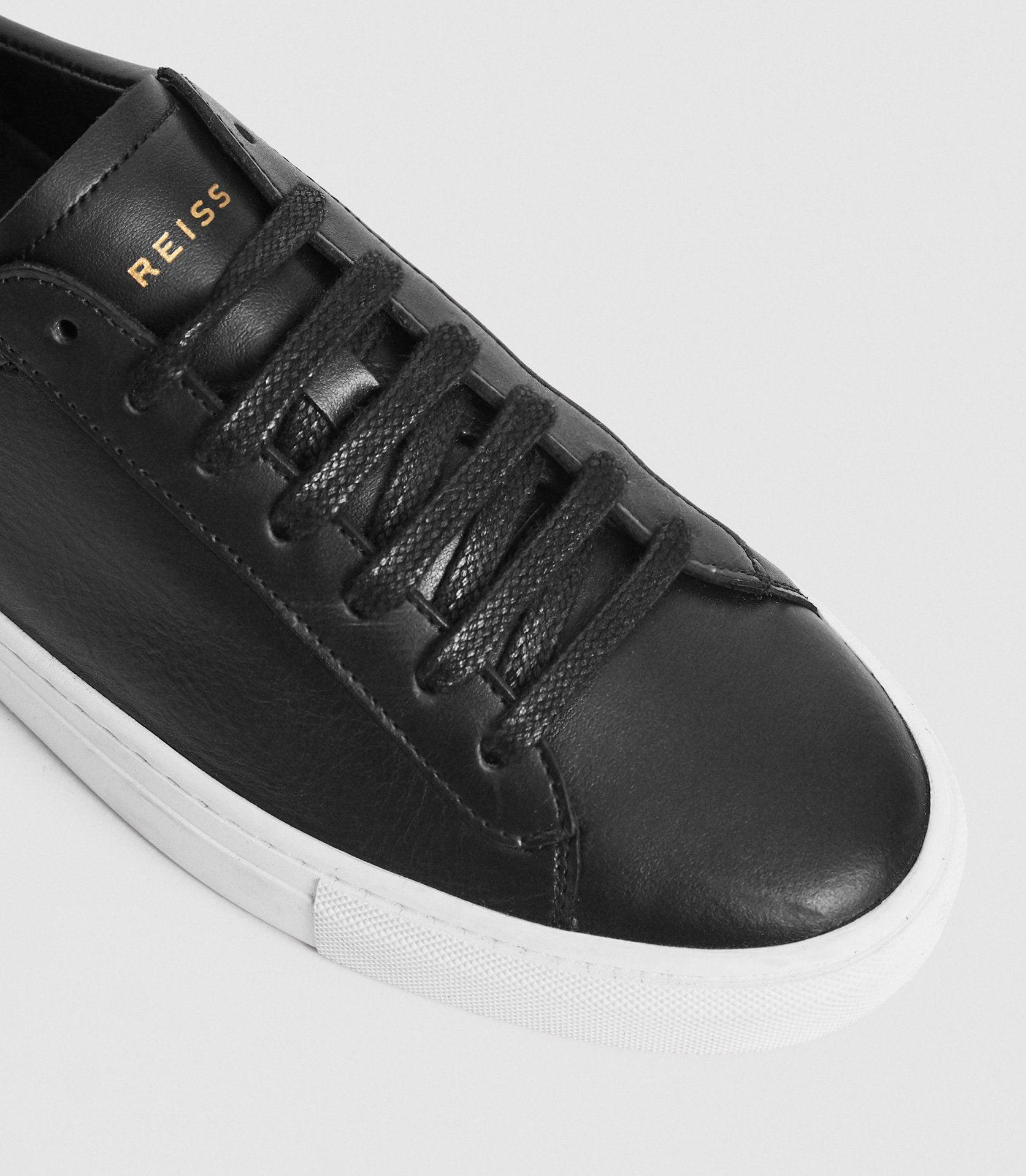 FINLEY - LEATHER CONTRAST SOLE TRAINERS 4