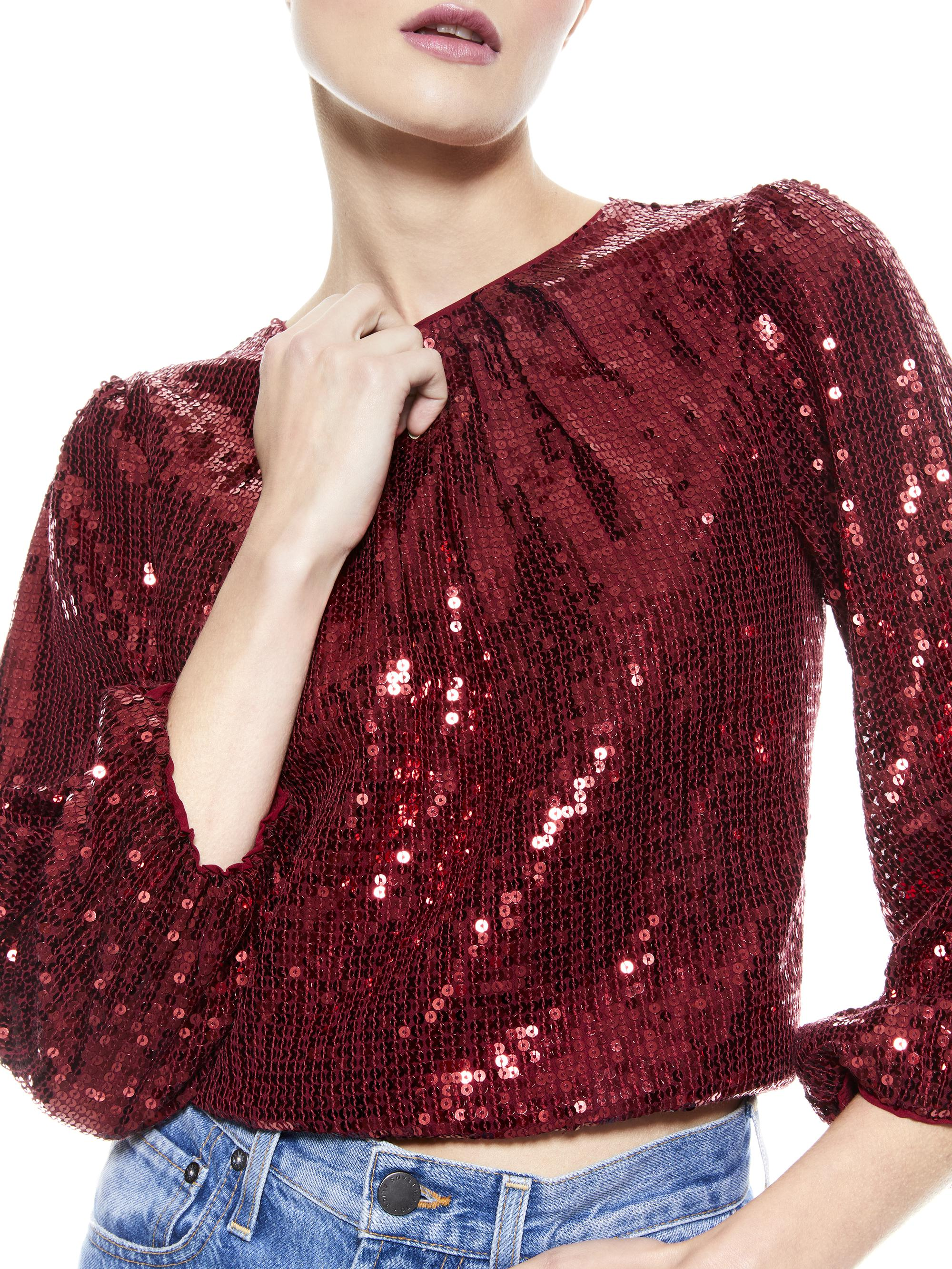 AVILA SEQUIN CREW NECK TOP