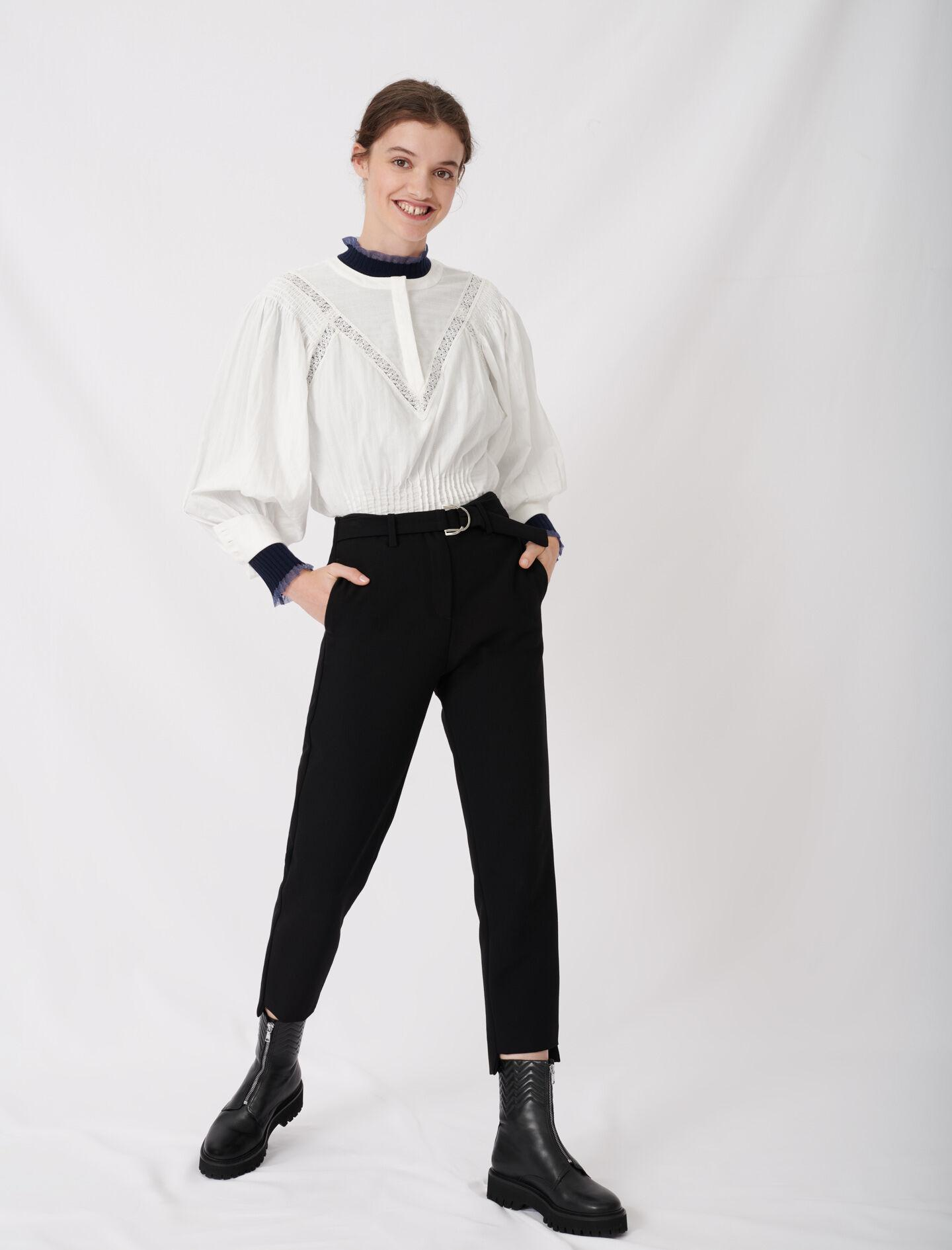 STRAIGHT PANTS BELTED