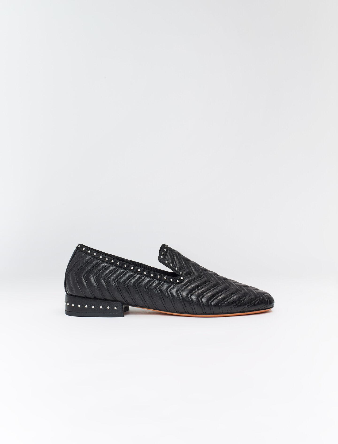 QUILTED LEATHER SLIPPERS