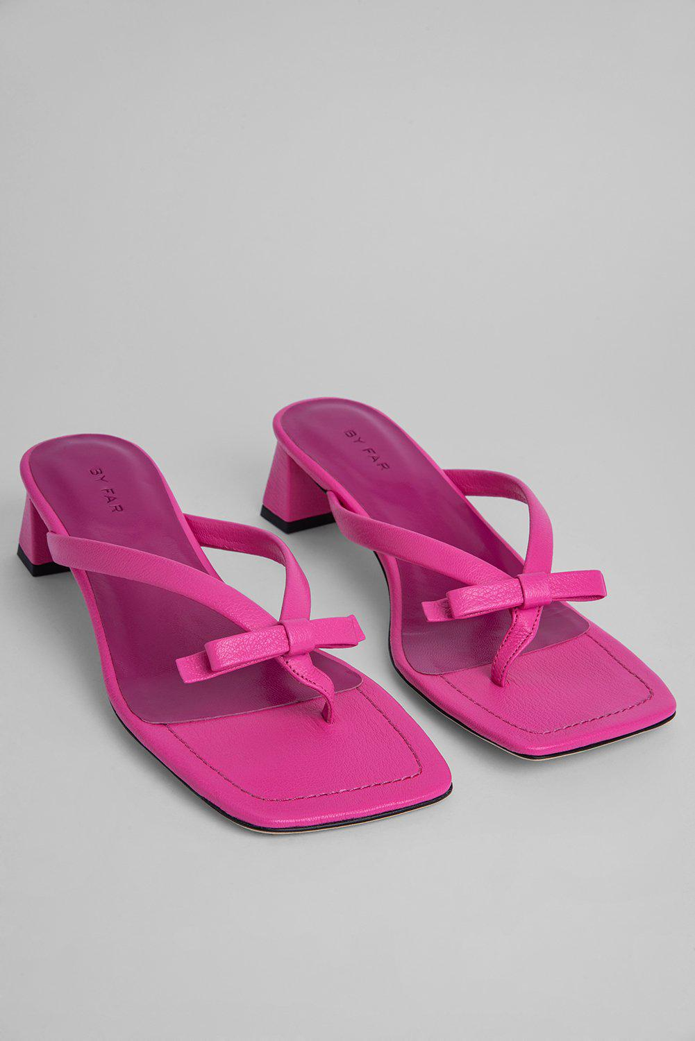 Bibi Hot Pink Grained Leather 1