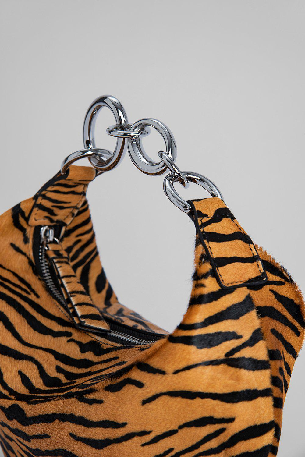 Bougie Tiger-Print Pony Hair Leather 5