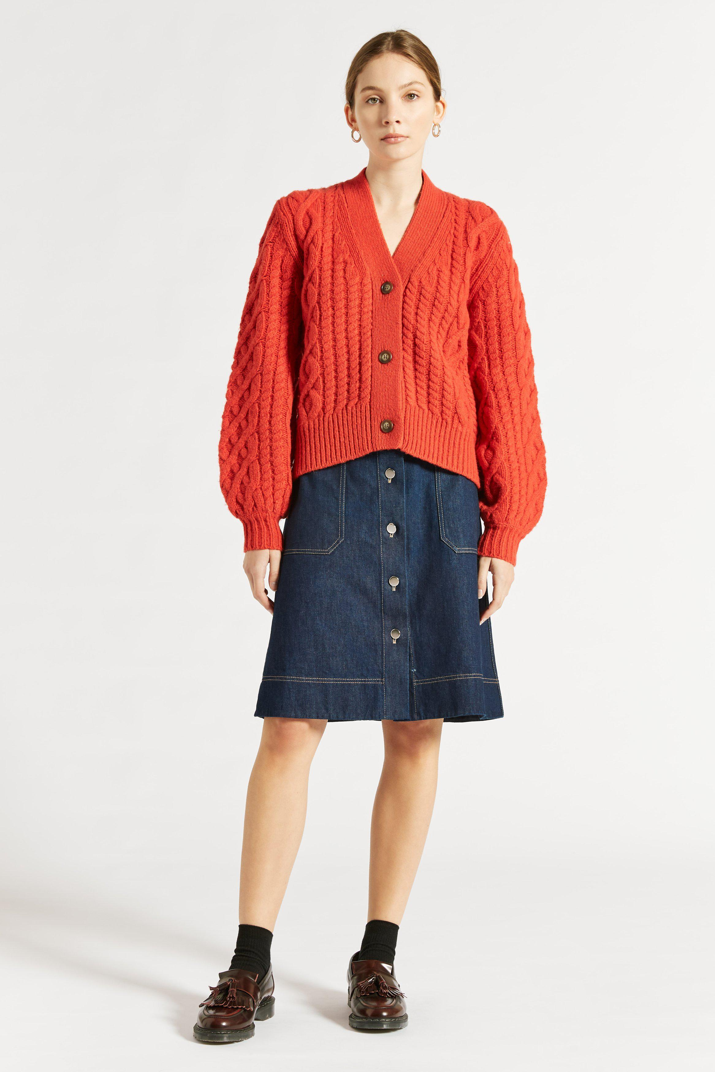 Stanford Cable Knit Cardigan