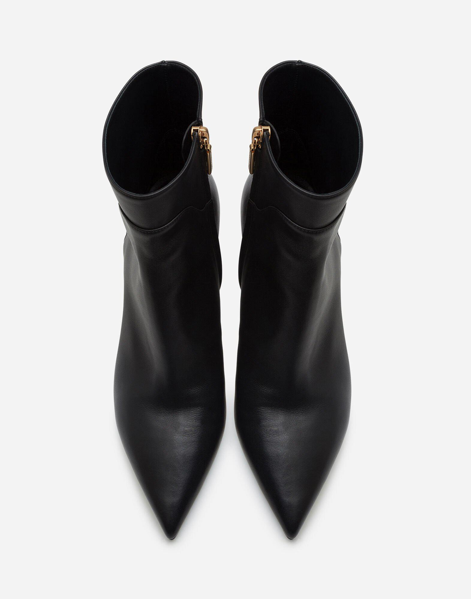 Calfskin ankle boots with DG logo 3