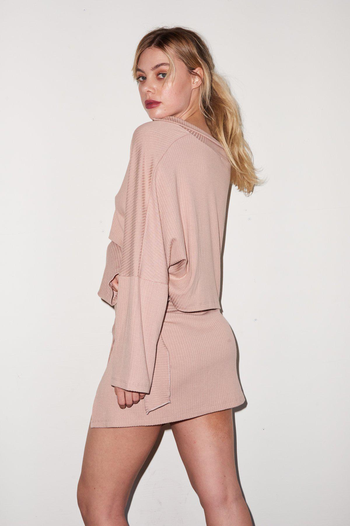 Carusso Wrap Skirt - Nude 3