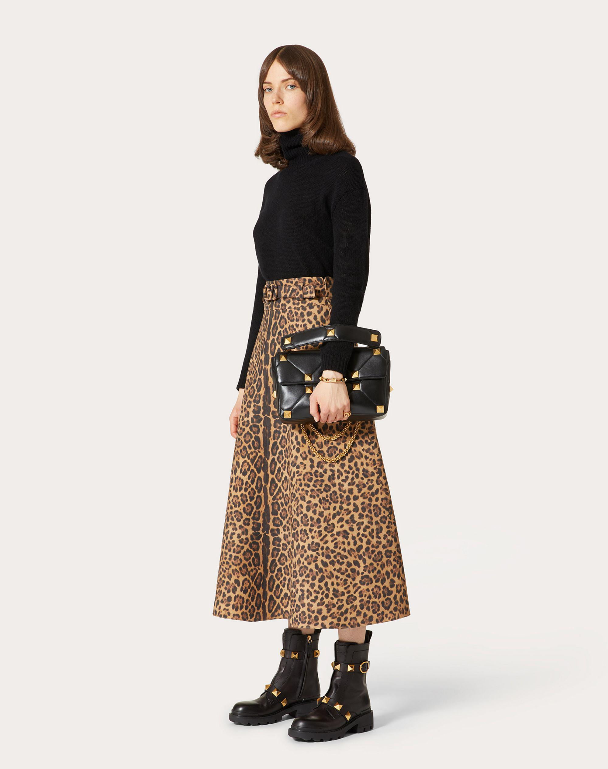 PRINTED CREPE COUTURE SKIRT 0