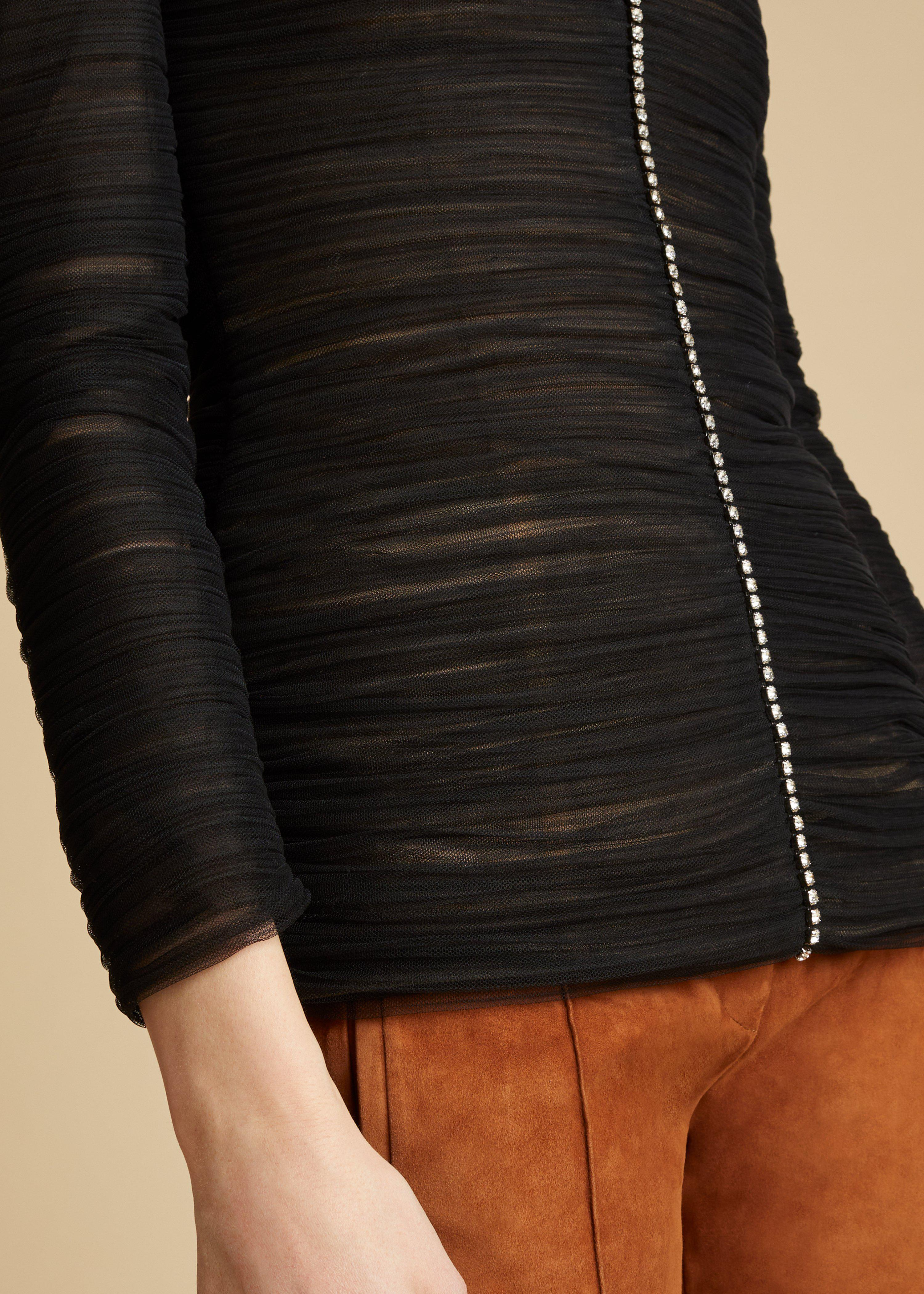 The Vienna Top in Black 6