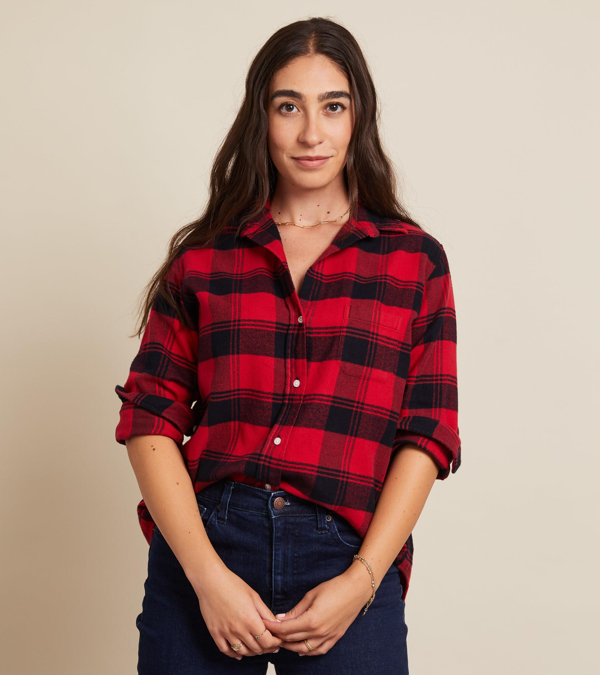 The Hero Red with Black Plaid, Plush Flannel