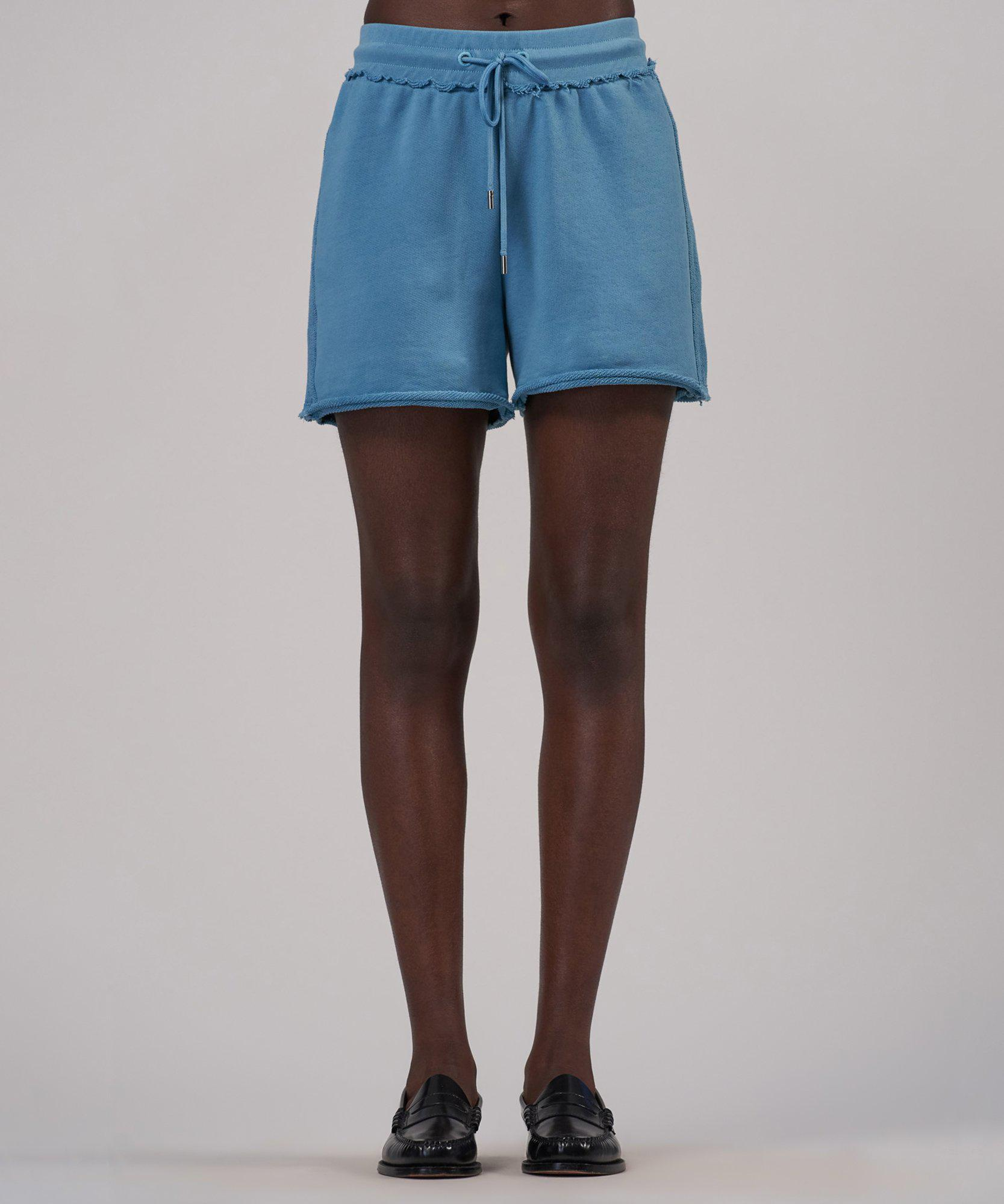 French Terry Pull-On Shorts - Ocean