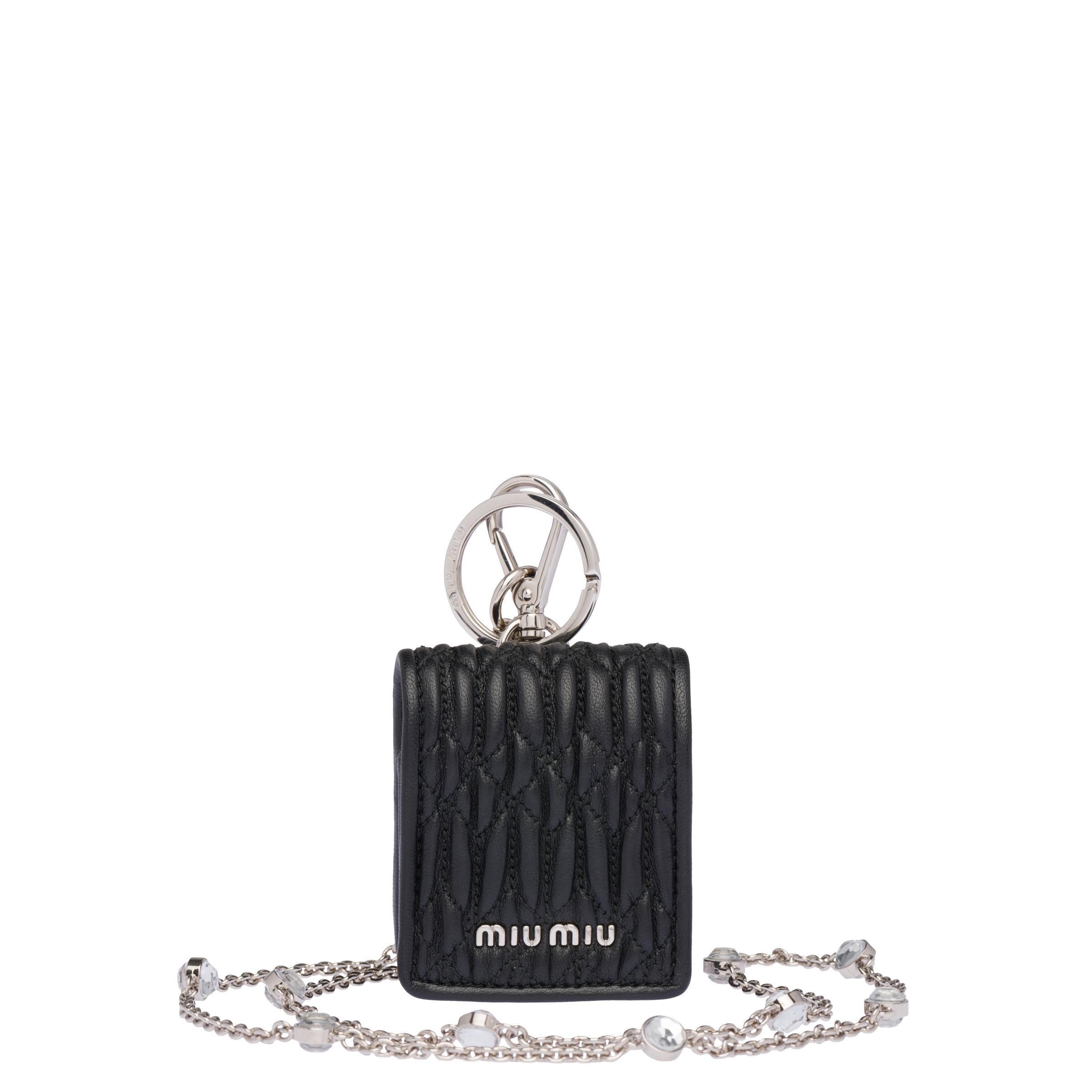 Crystal Nappa Airpods Case Women Black