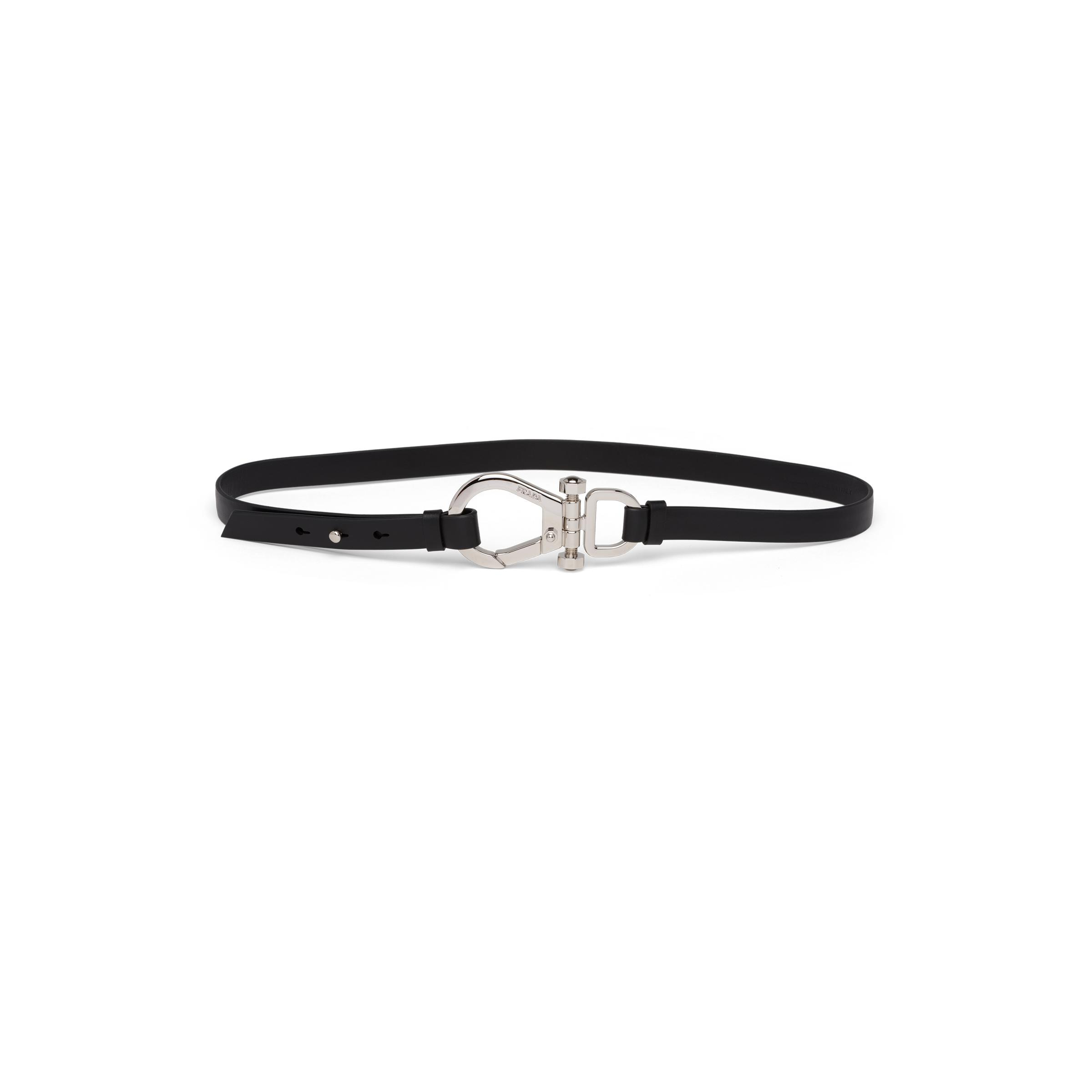 Leather Belt With Buckle Women Black