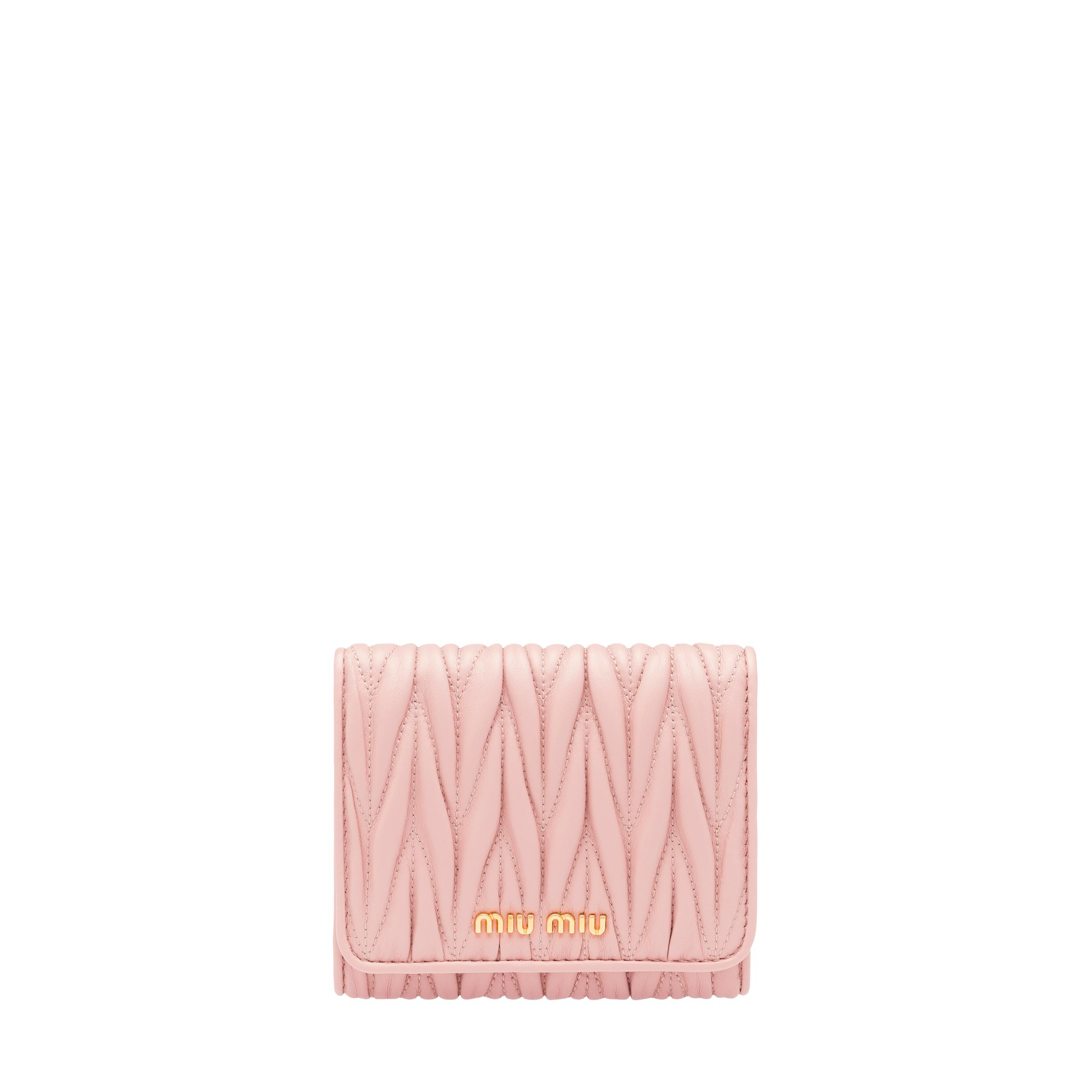Small Leather Wallet Women Orchid Pink
