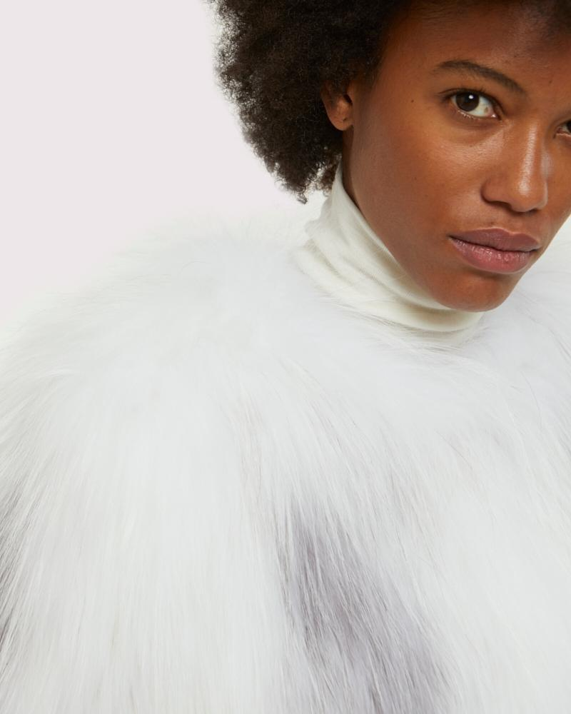 knitted arctic marble fox jacket 3