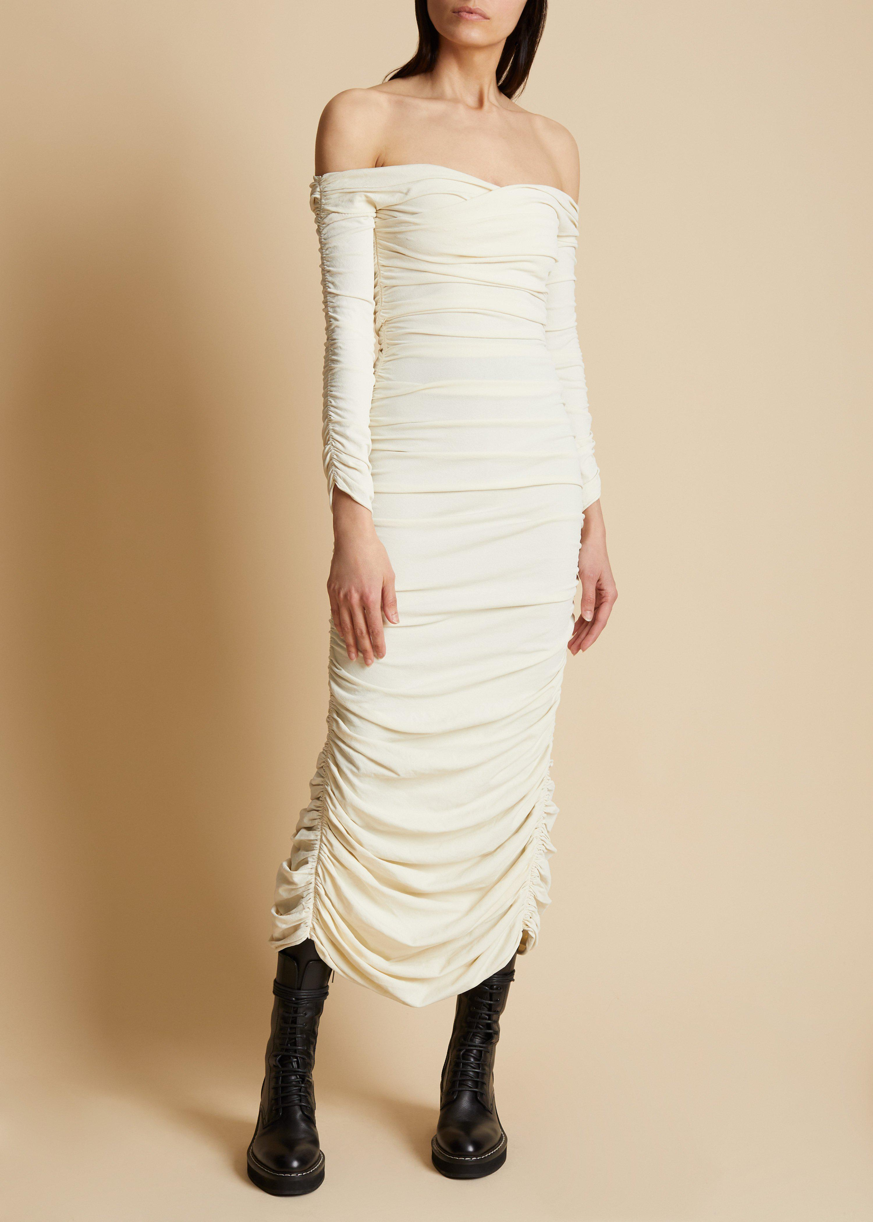 The Lydia Dress in Ivory