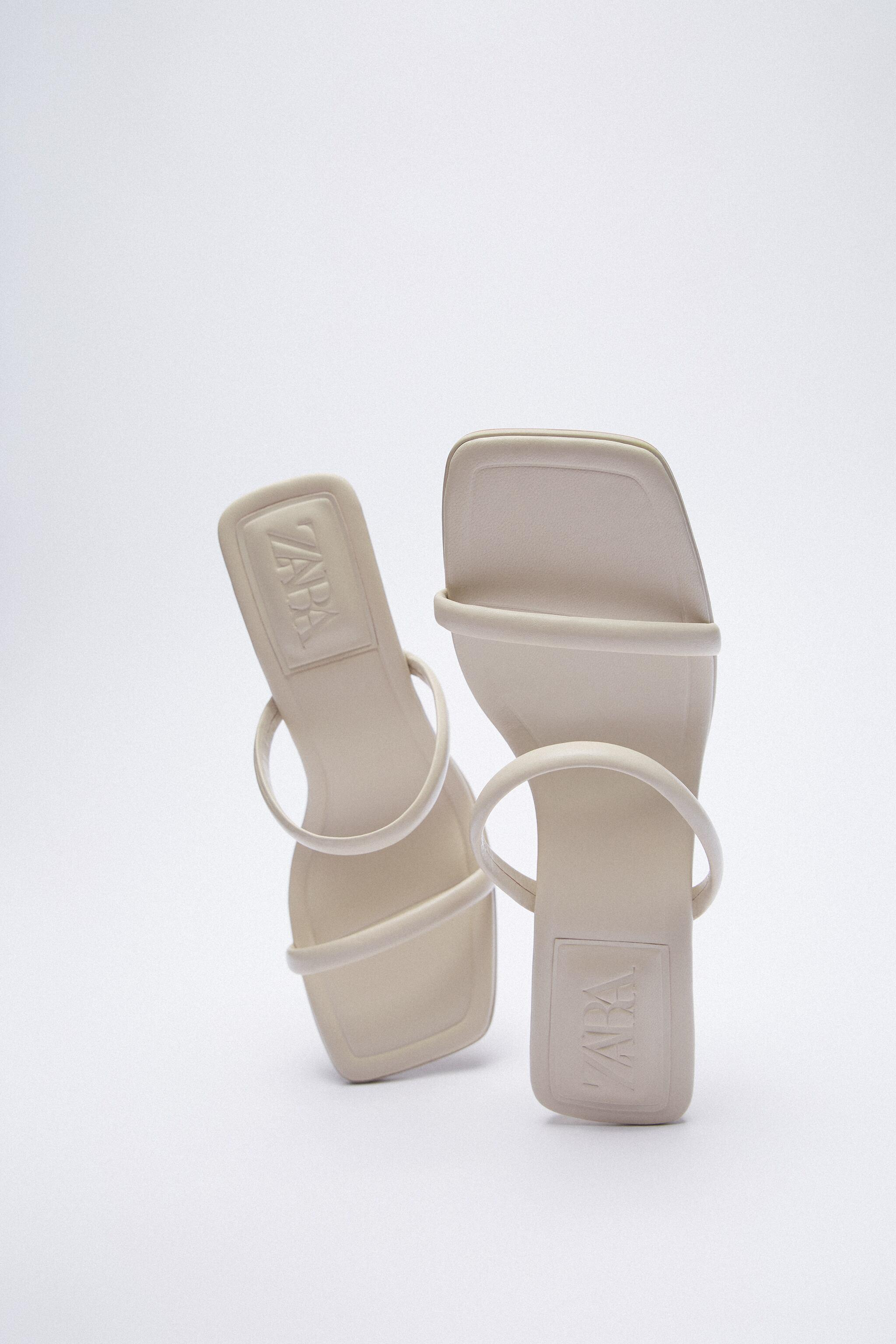 STRAPPY HEELED LEATHER SANDALS 7