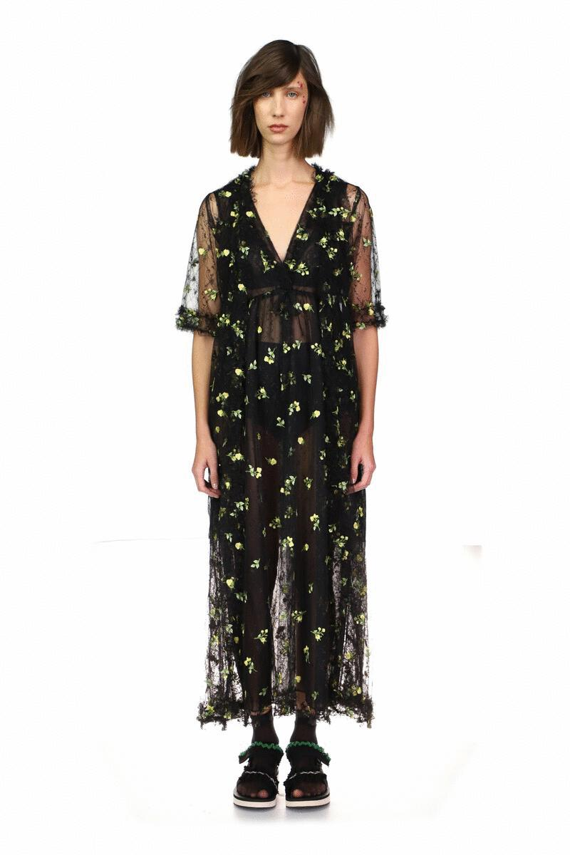 Scattered Blooms Lace Duster 3