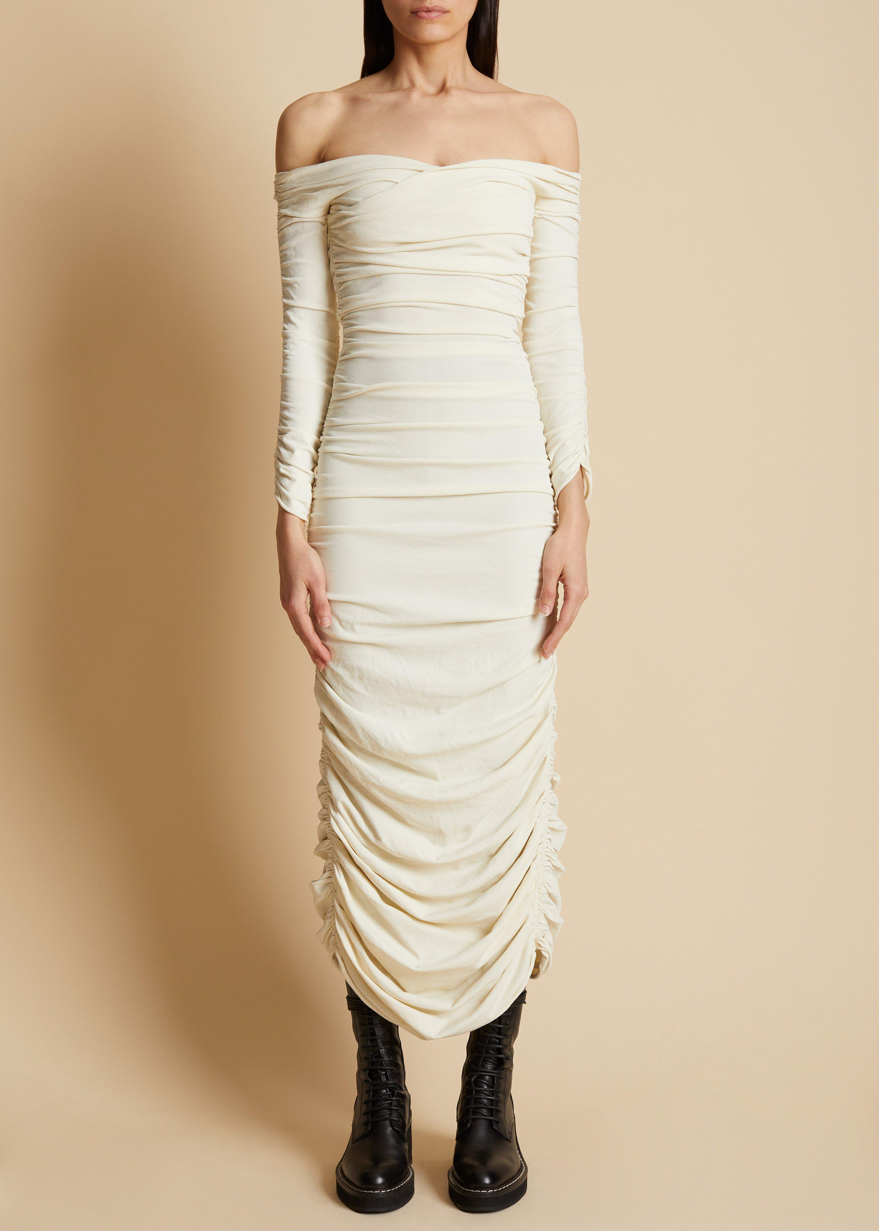 The Lydia Dress in Ivory 1