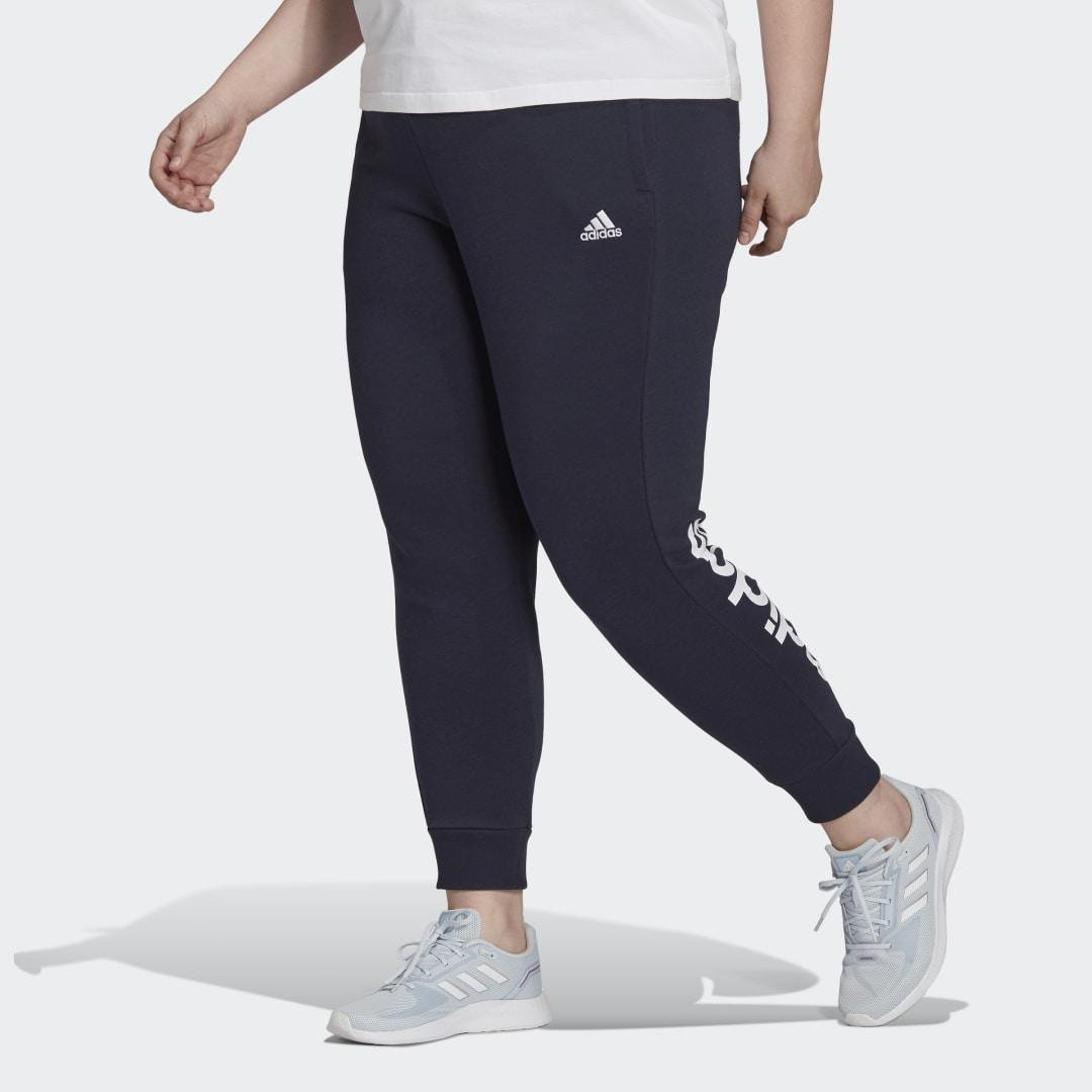 Essentials French Terry Logo Pants (Plus Size) Dark Blue