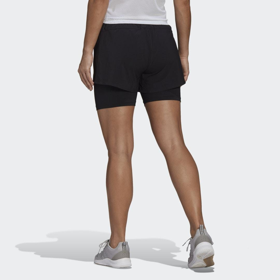 Primeblue Designed To Move 2-in-1 Sport Shorts Black XS - Womens Training Shorts 1