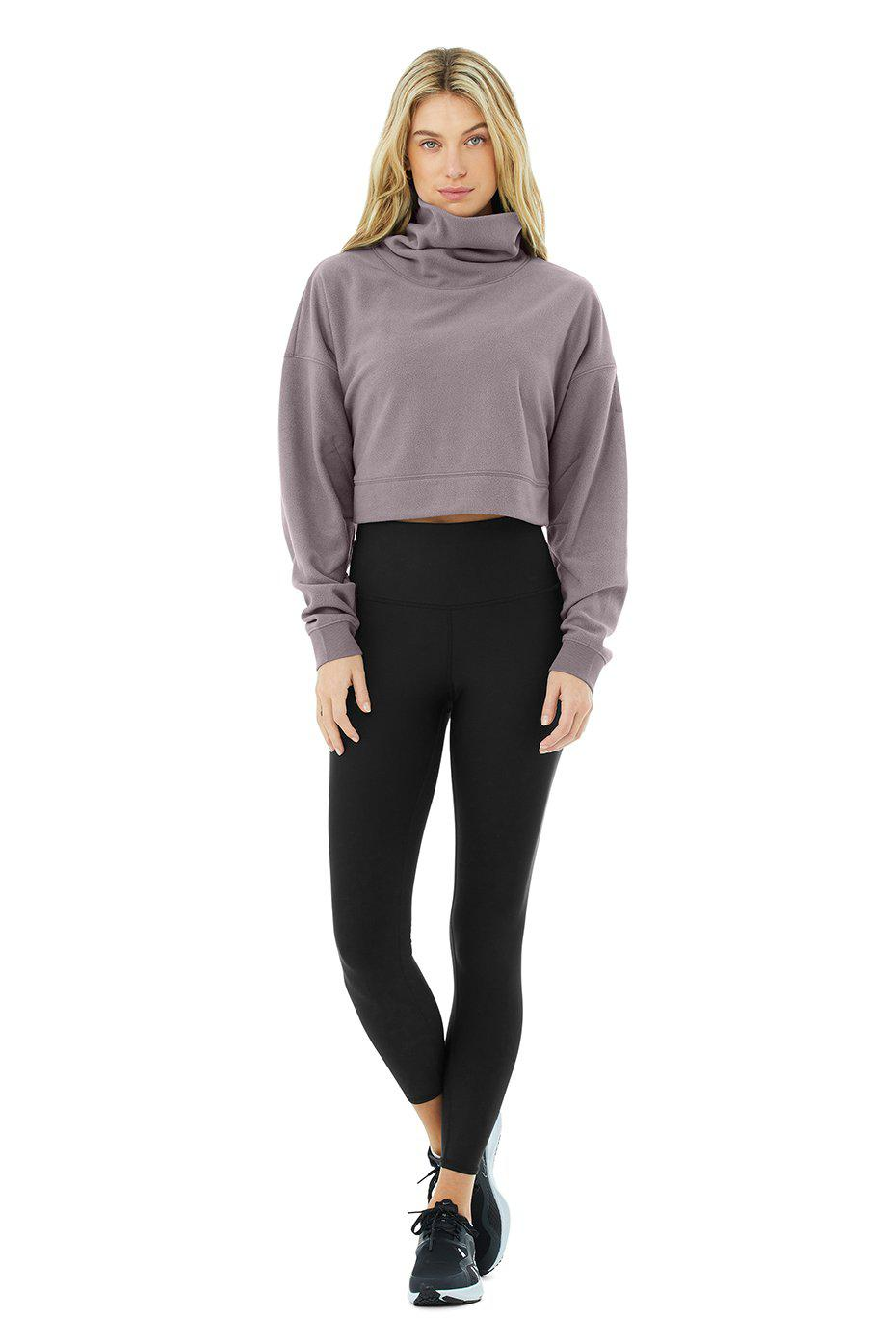 Cropped Warm Up Pullover - Purple Dusk 3