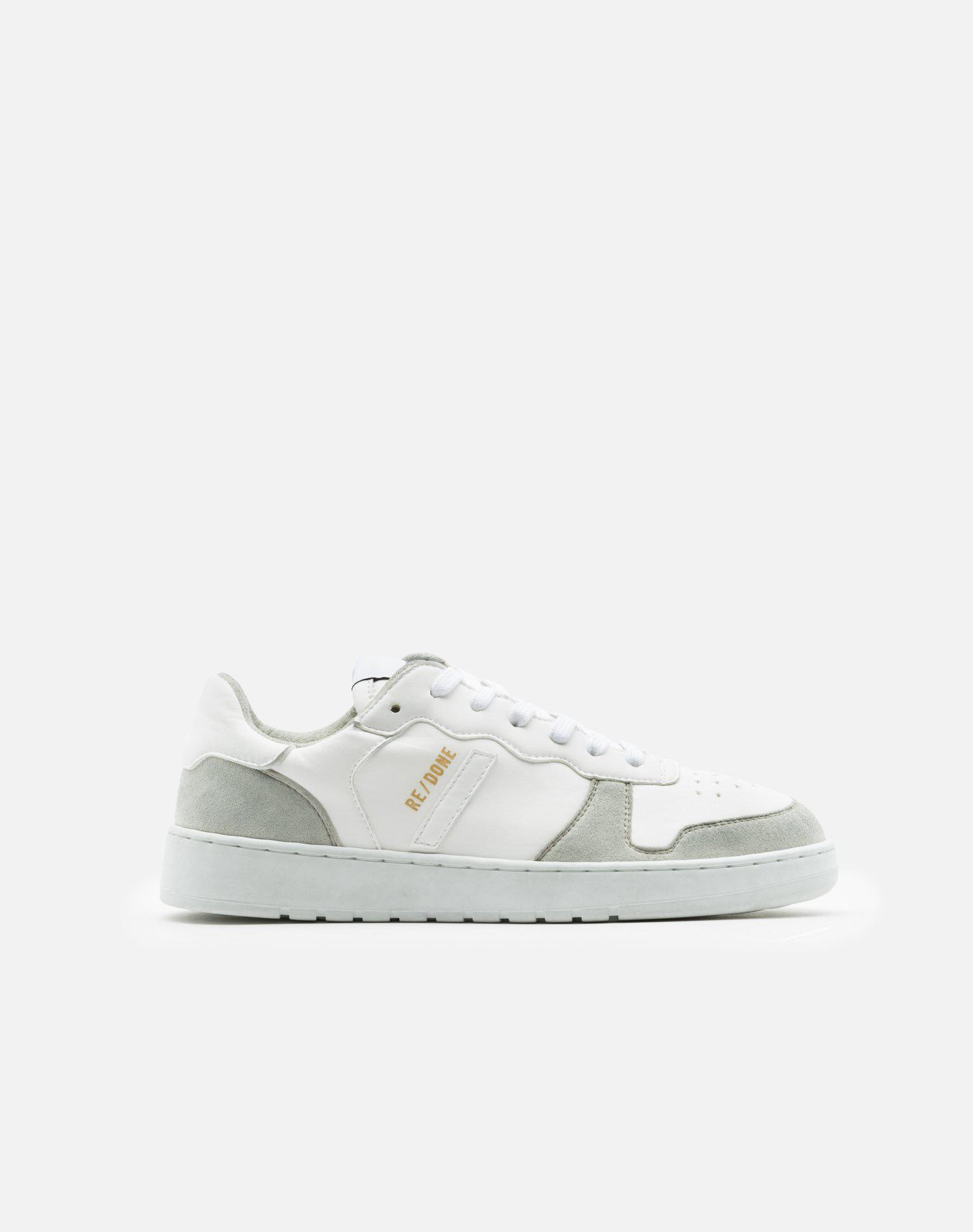 80s Sustainable Basketball Shoe - White and White