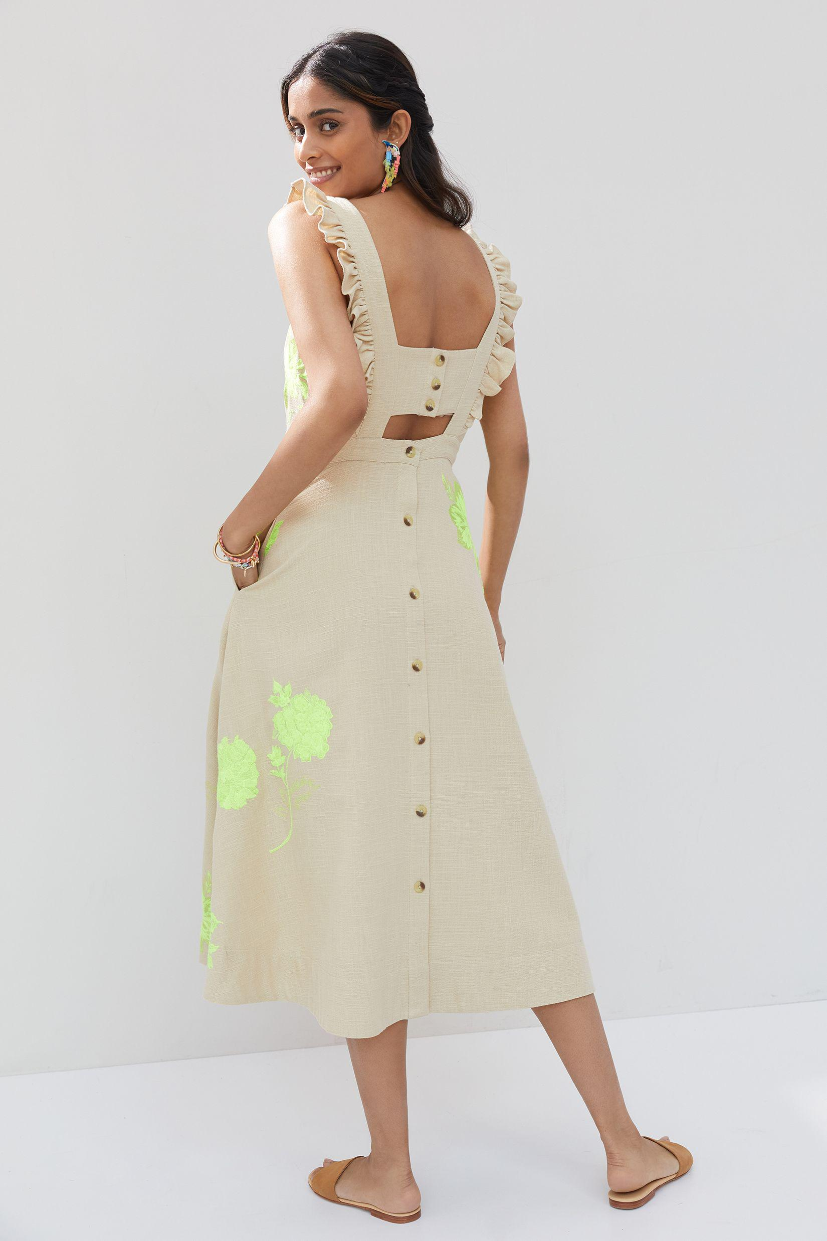 Floral Embroidered Midi Dress 2