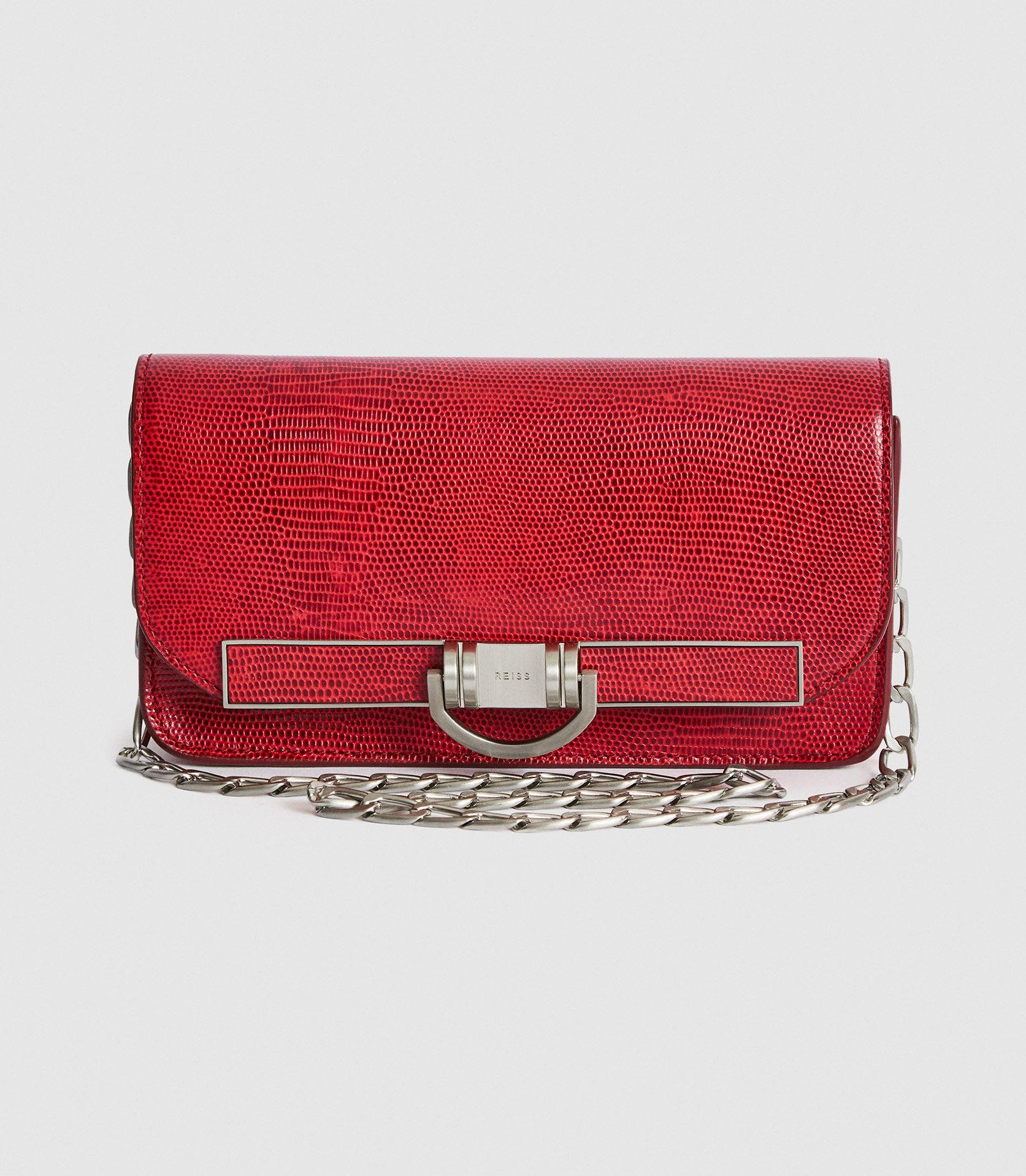 LEXI SMALL - SMALL LEATHER BAGUETTE BAG