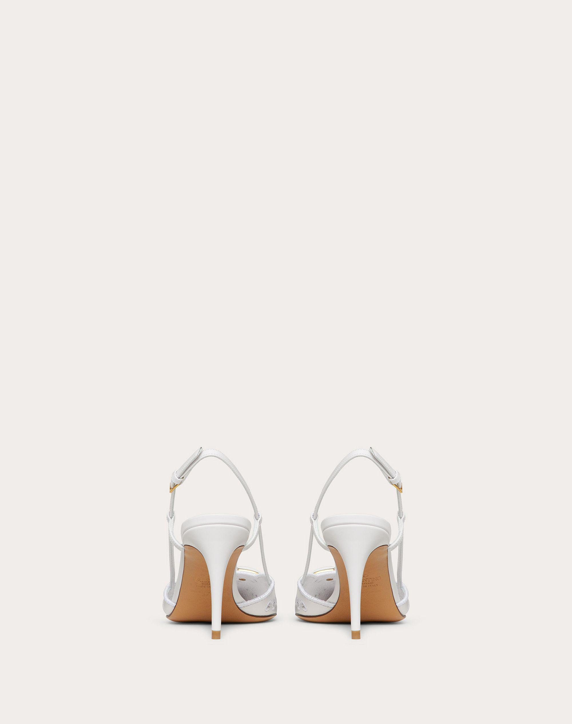 VLOGO SIGNATURE CALFSKIN SLINGBACK PUMP WITH SAN GALLO EMBROIDERY 80 MM 2
