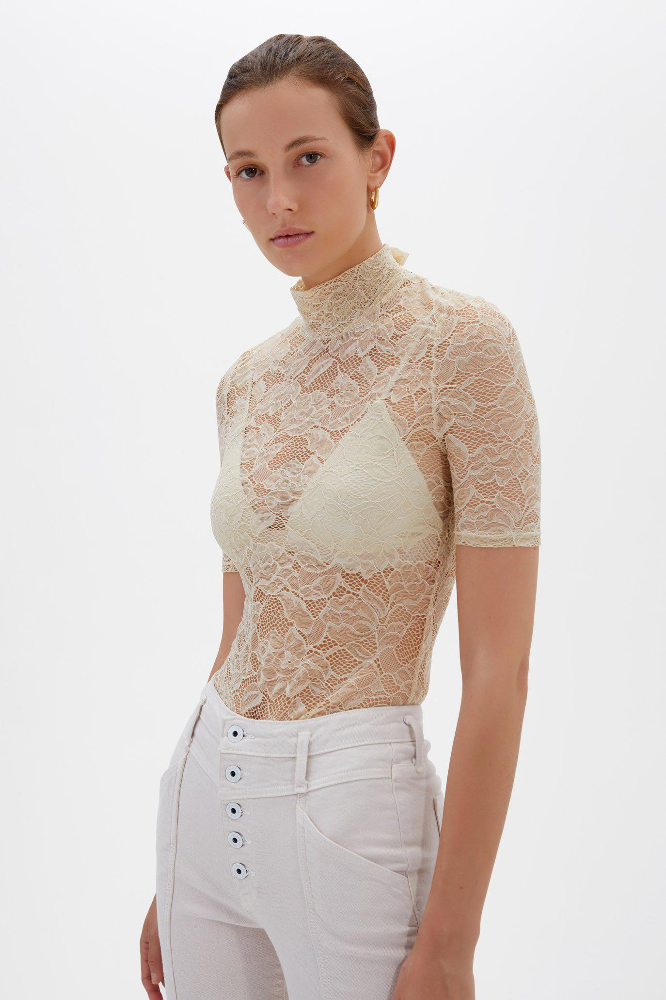 Cassandra Recycled Lace Top
