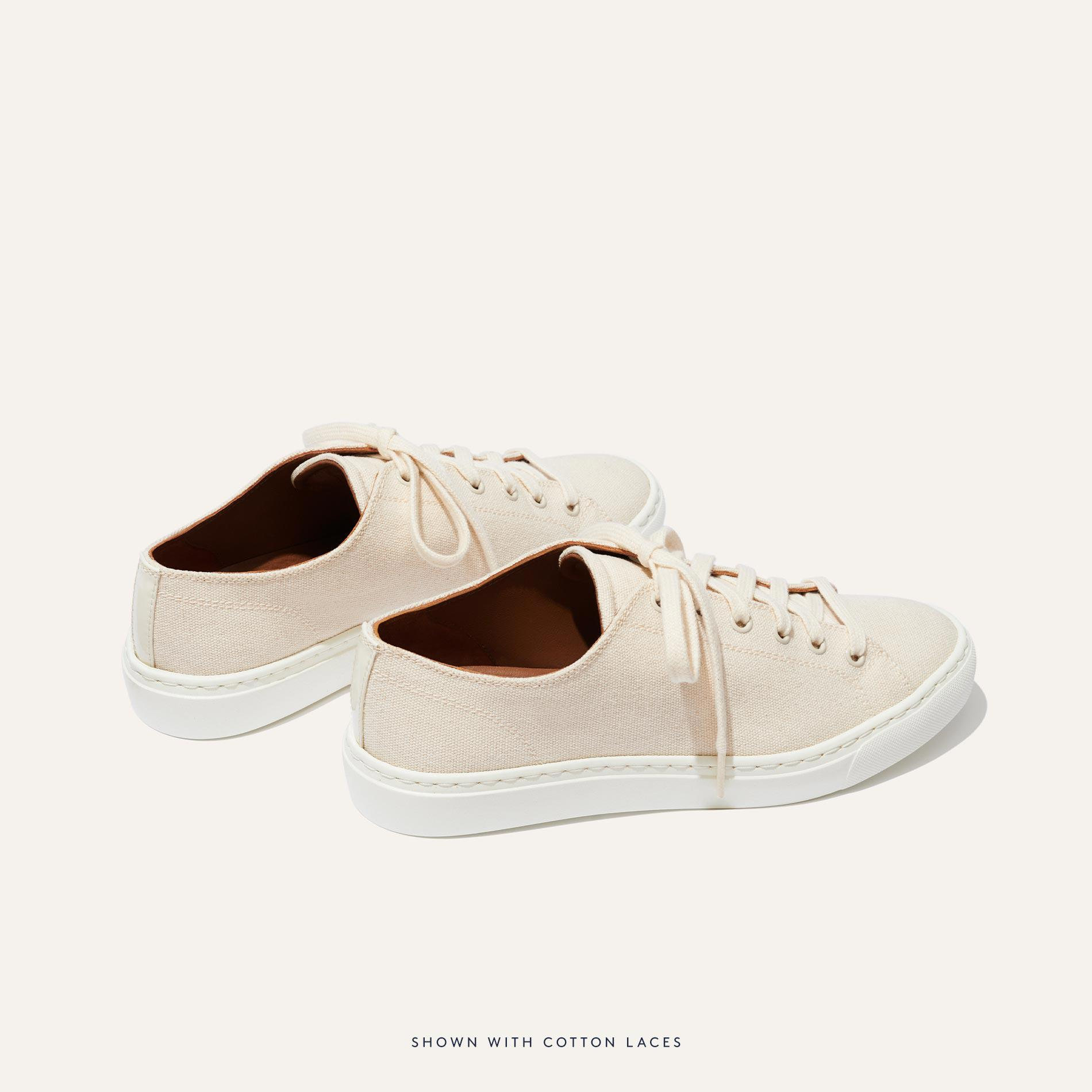 The Summer Sneaker - Ivory Canvas 3