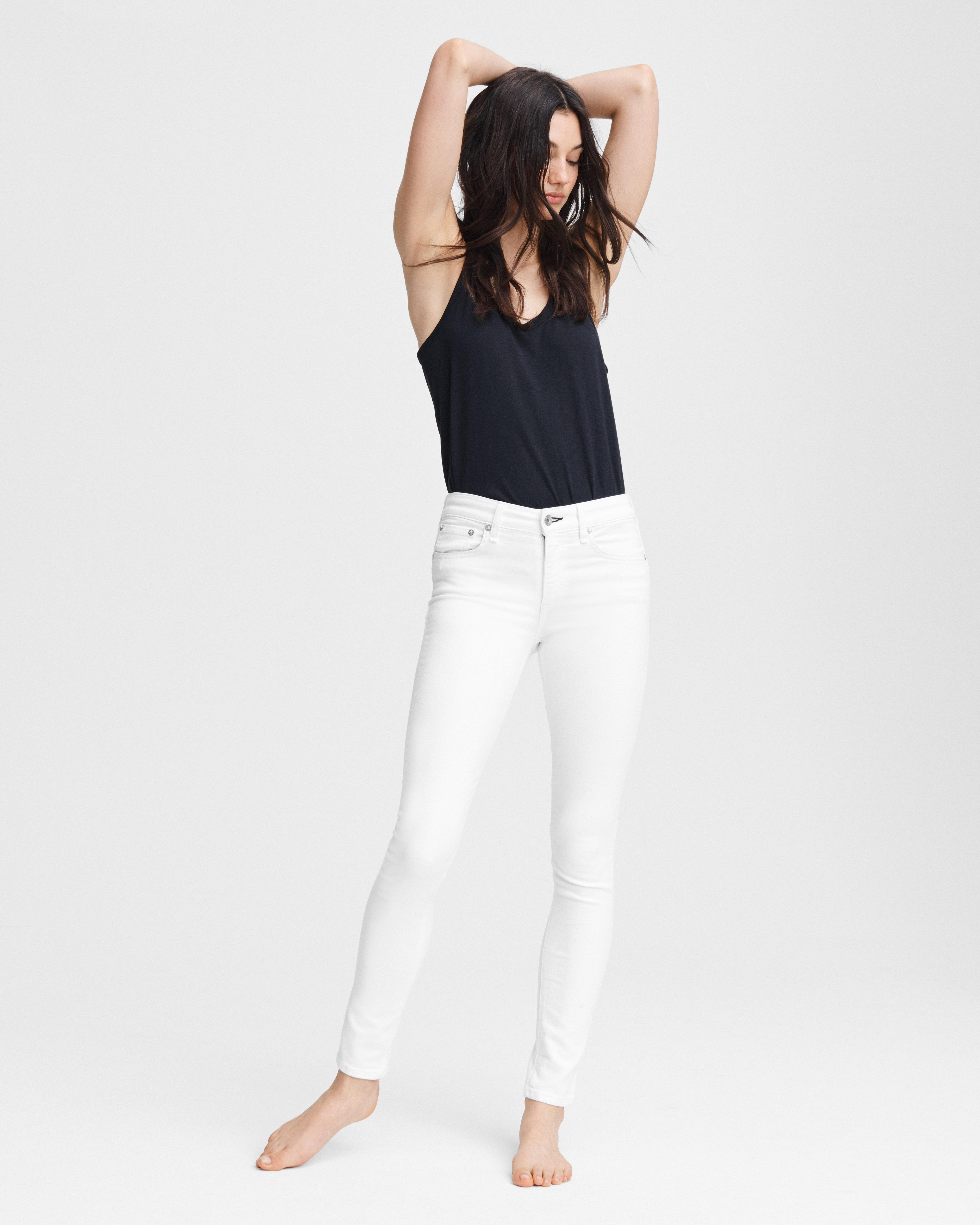 Cate mid-rise skinny - white