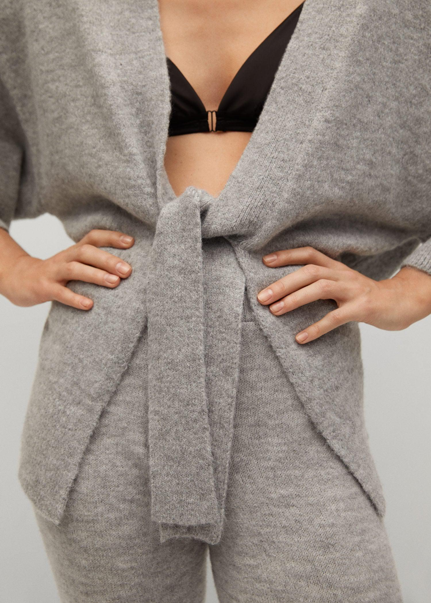 Knitted cardigan with belt 5