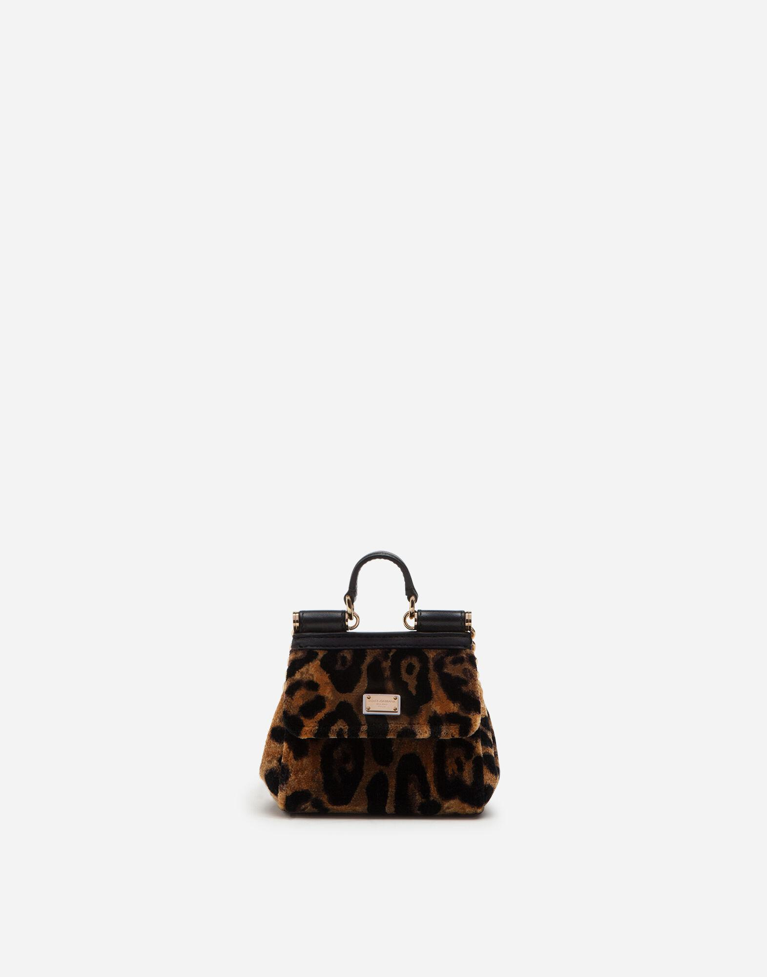 Micro Sicily bag with leopard print