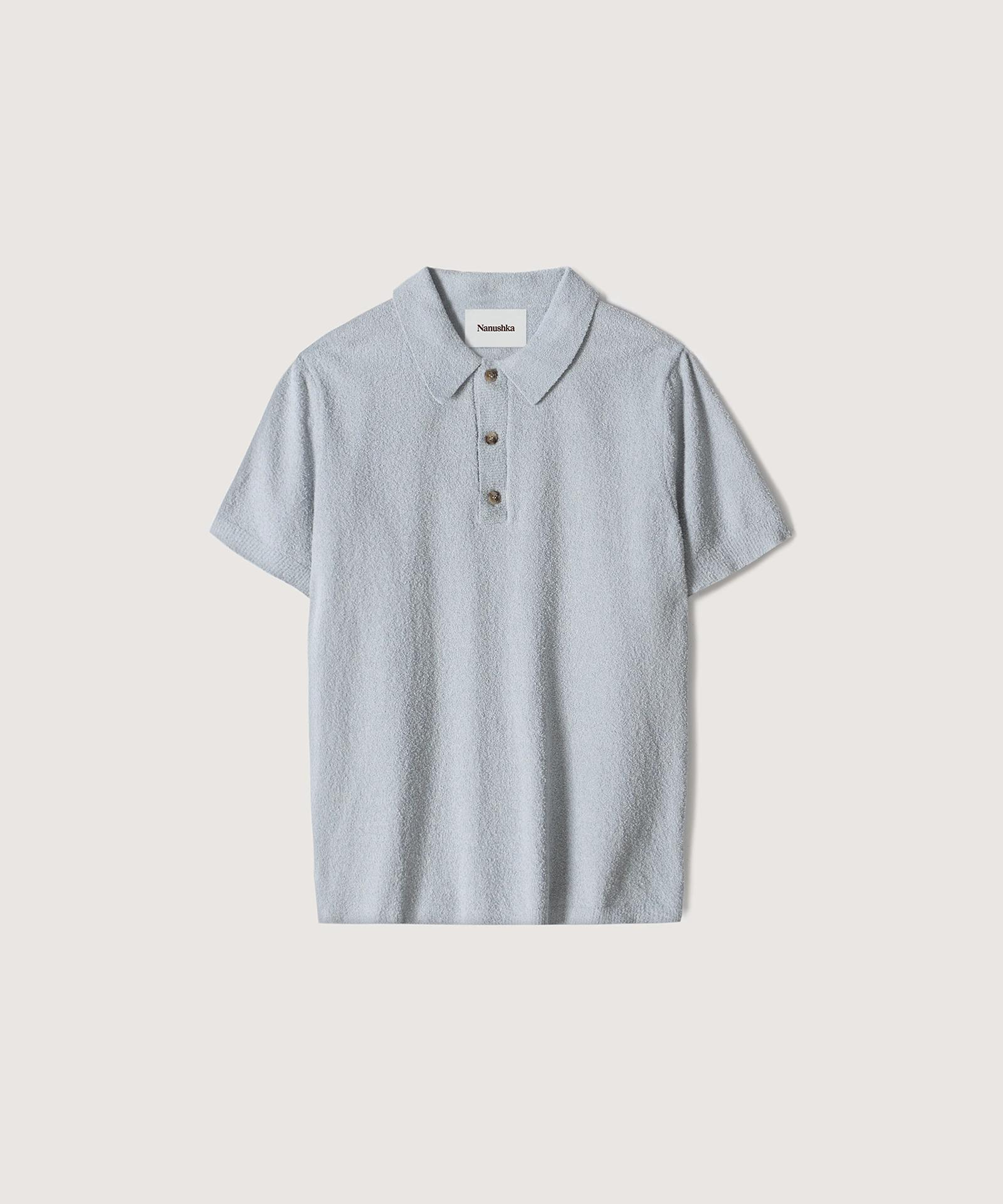 MARUS - Terry-knit polo shirt - Pale blue