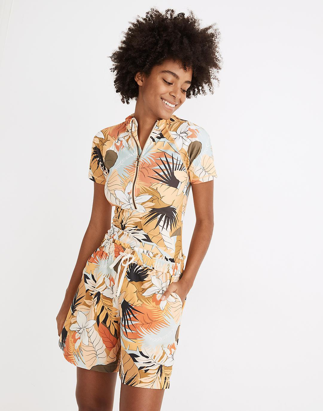 Madewell Second Wave Board Shorts in Tropical Vacation 0