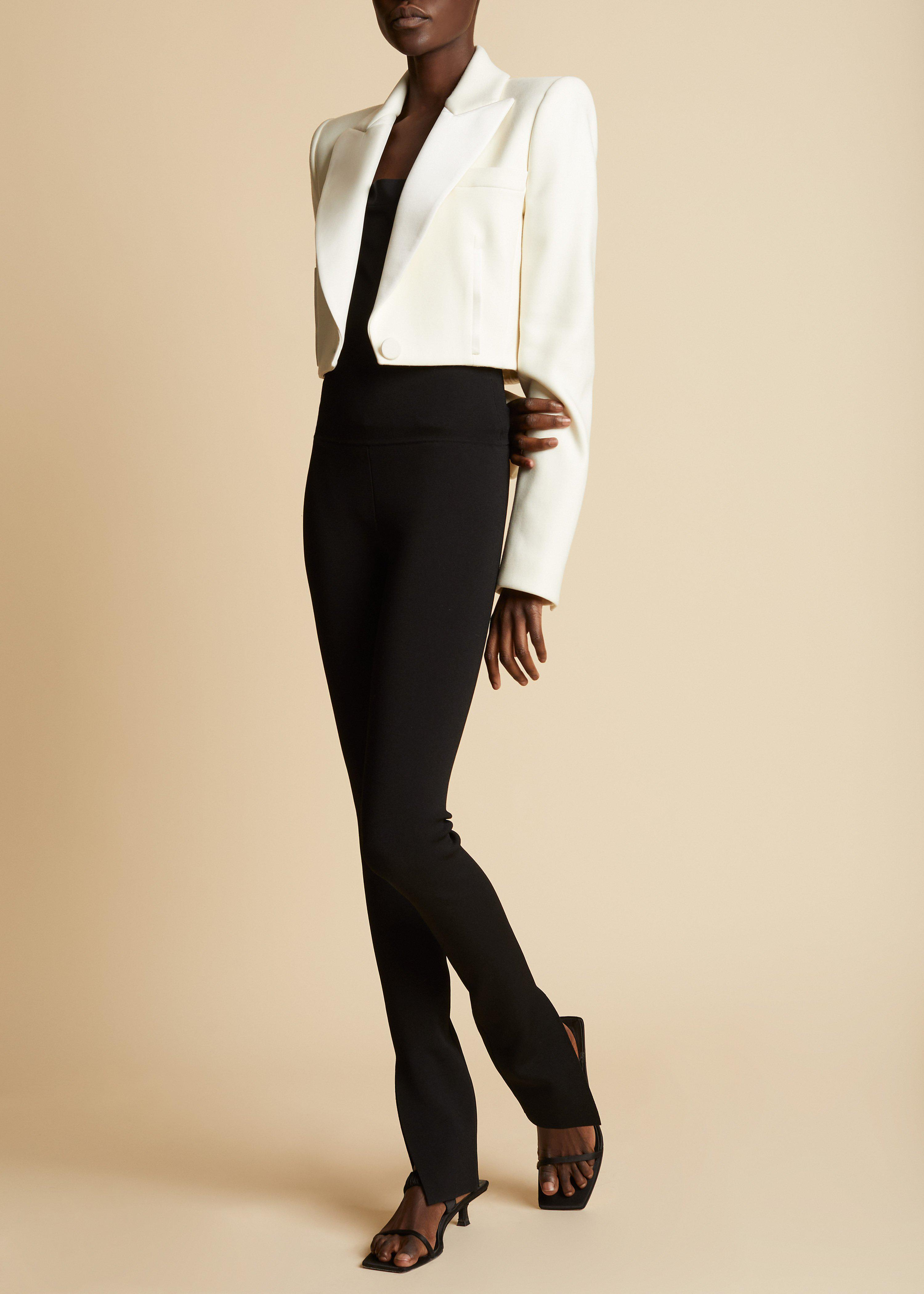 The Lucille Blazer in Ivory 1