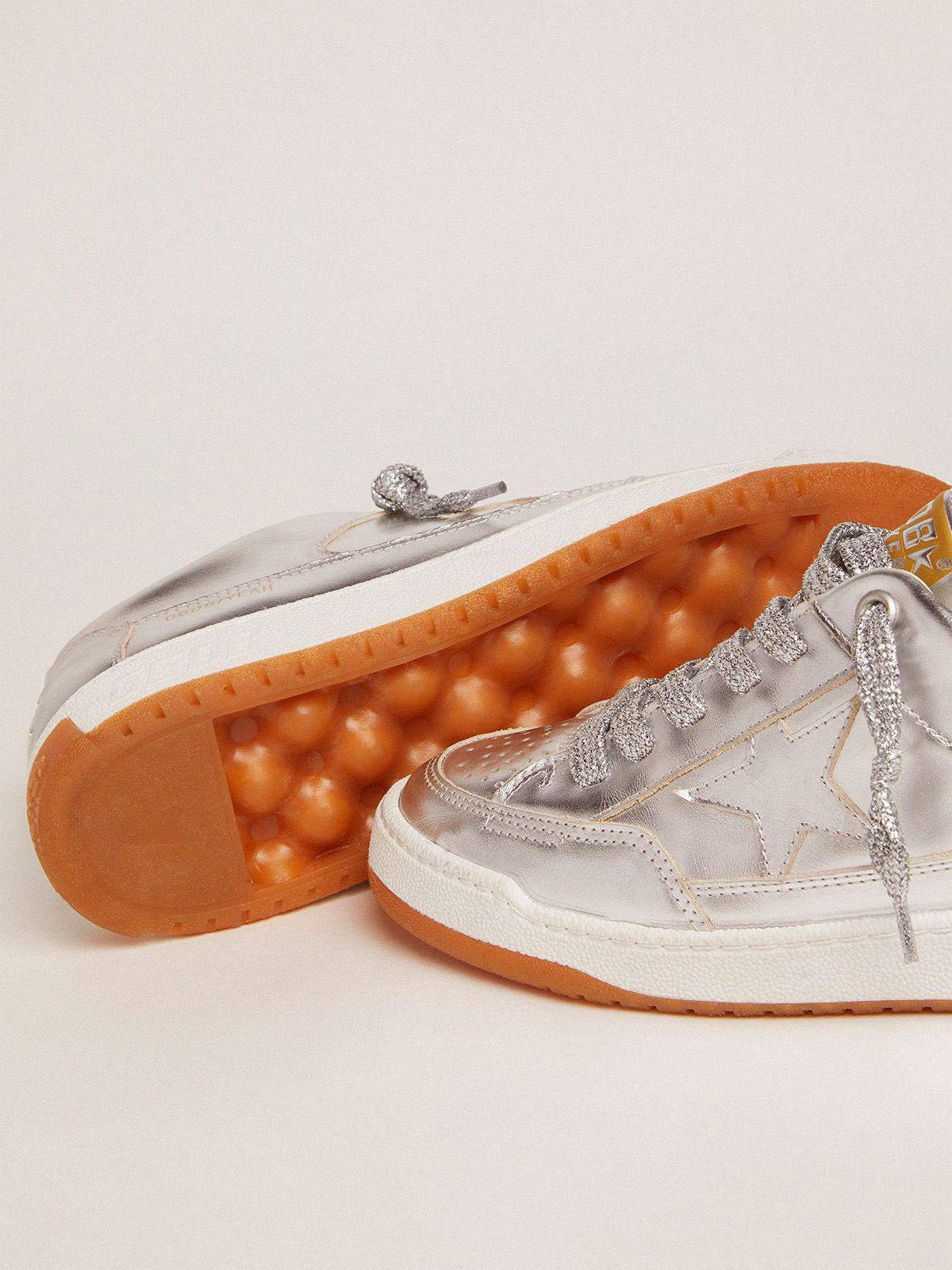 Yeah sneakers in silver laminated leather 2