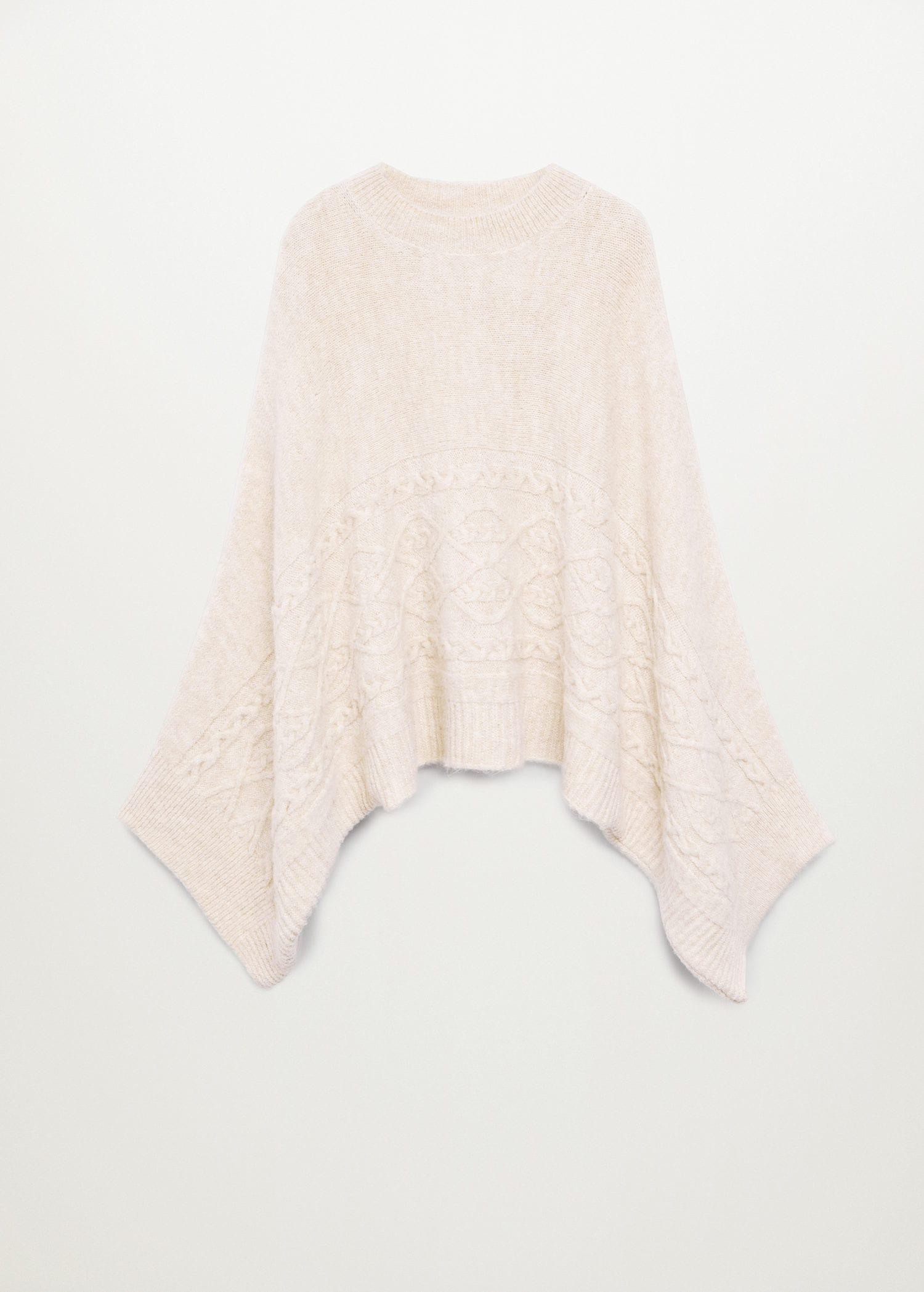 Oversized knitted cape 8