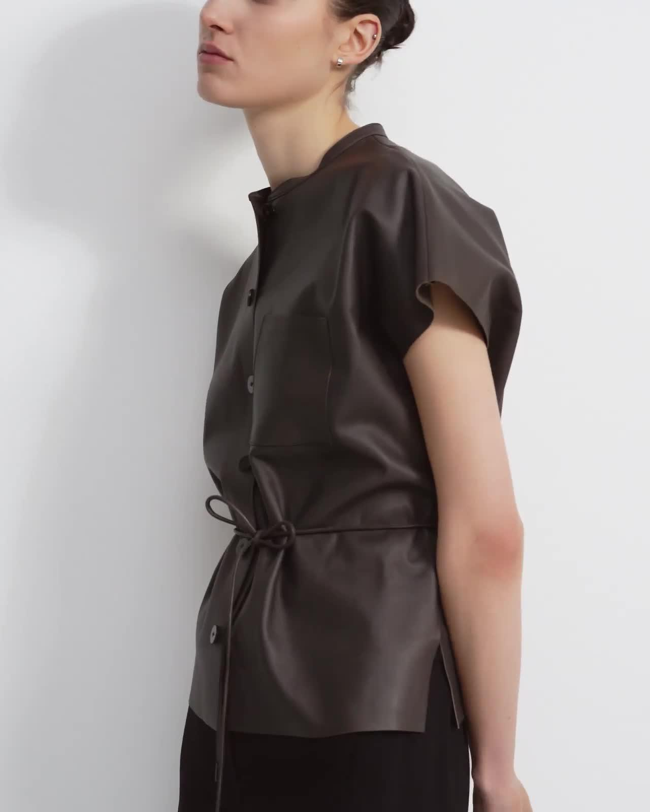 Triangle Shirt in Paper Faux Leather 4