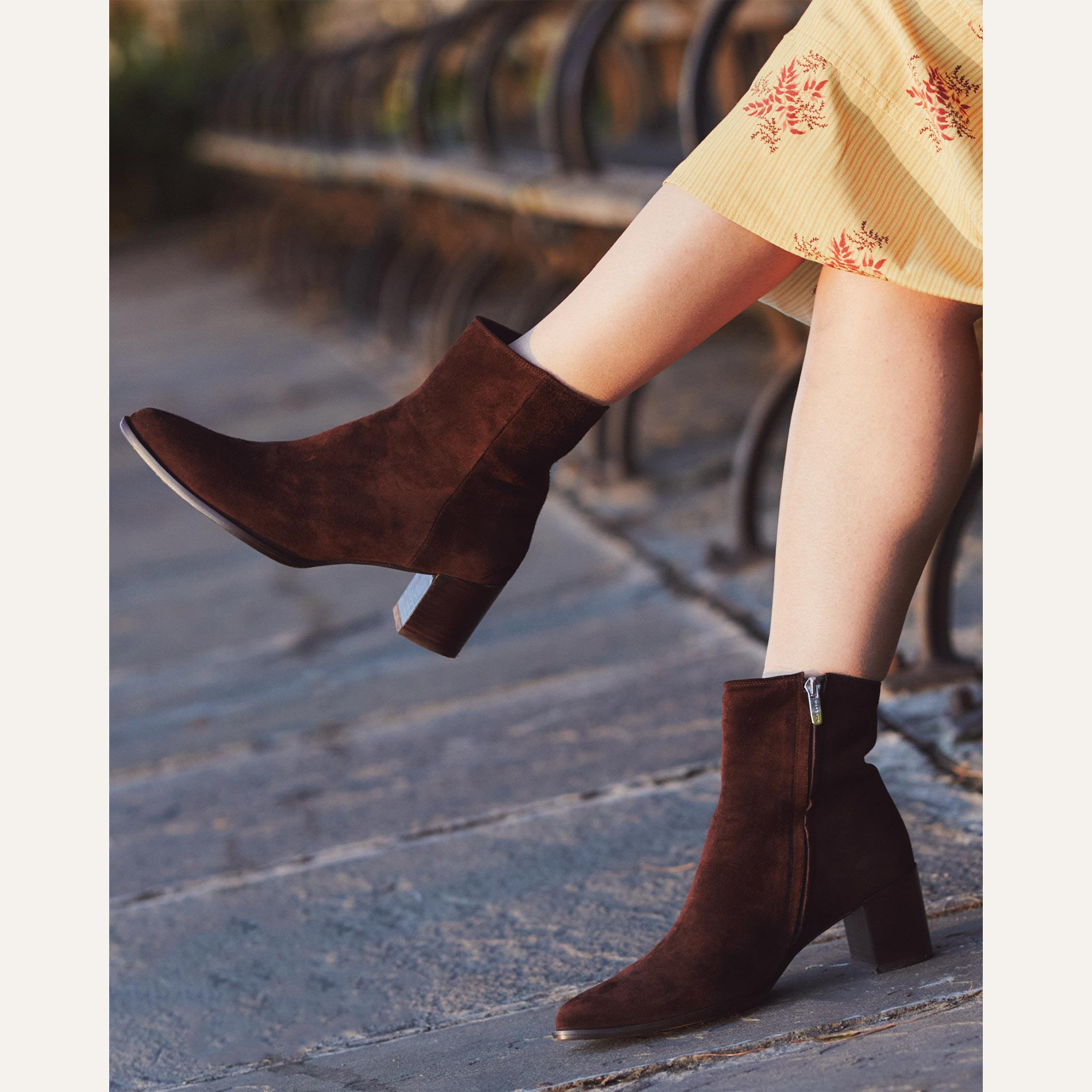 The Downtown Boot - Chocolate Suede 4