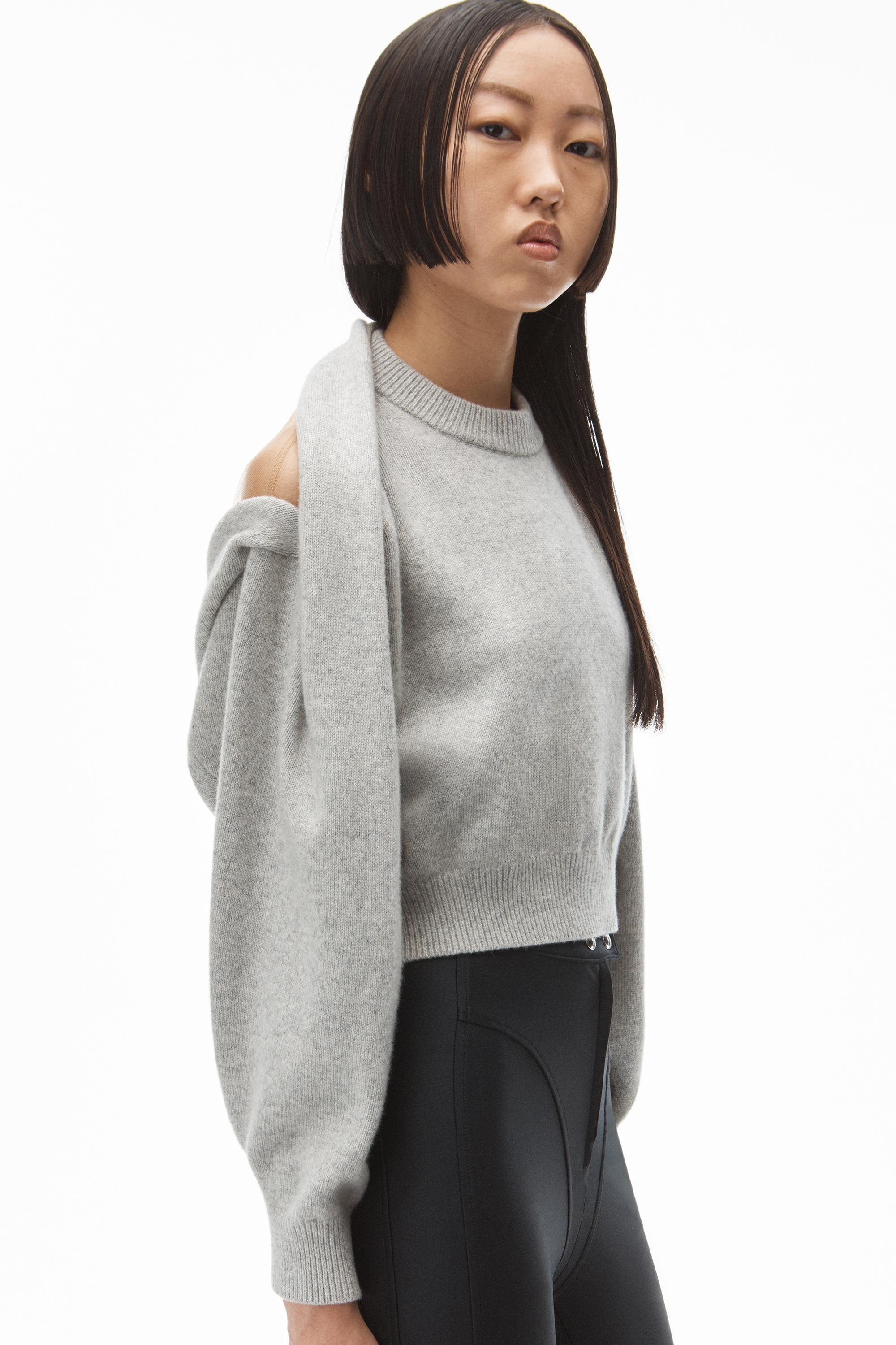 pullover in illusion tulle and cashmere wool 2