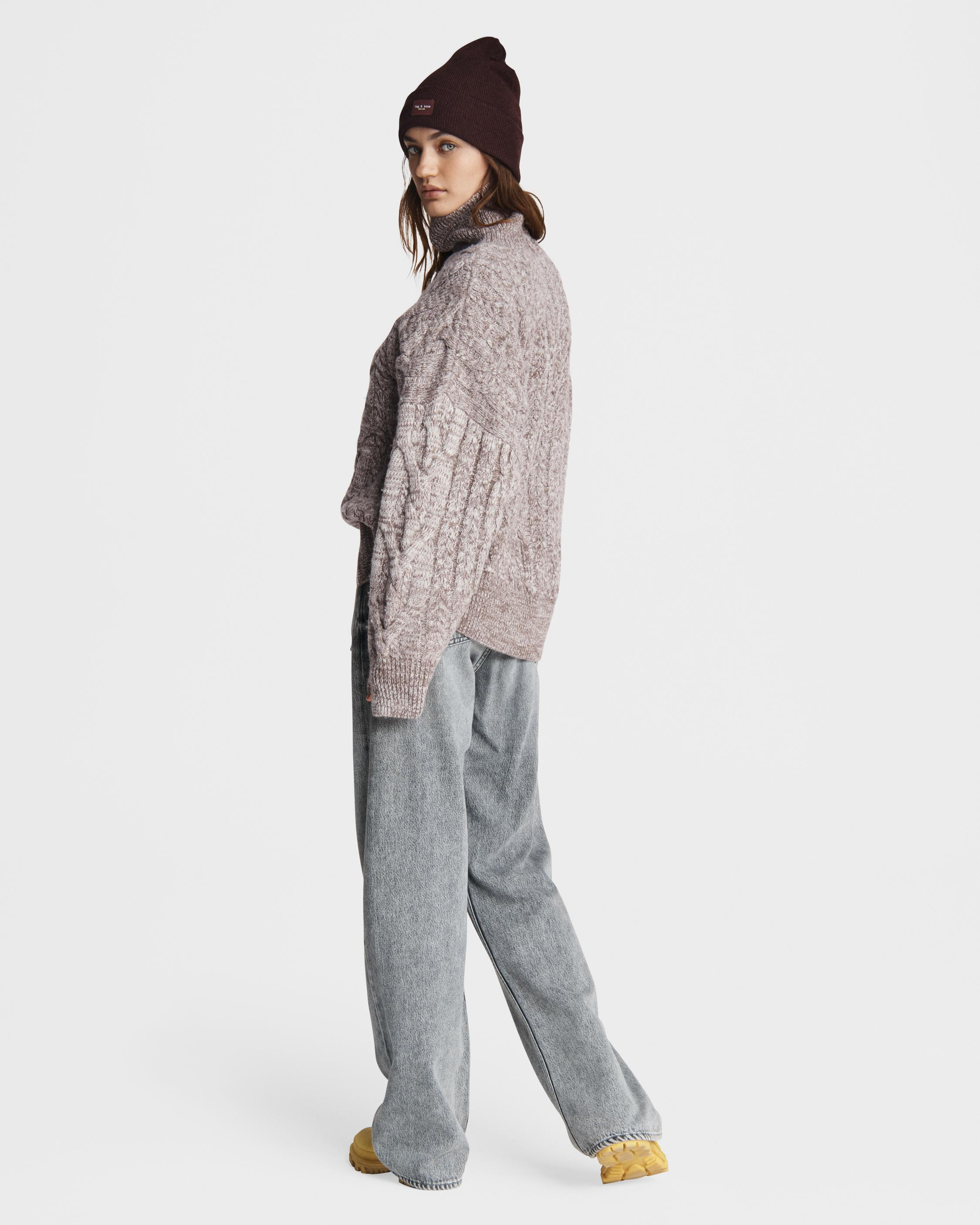 Nora cable wool turtleneck 3