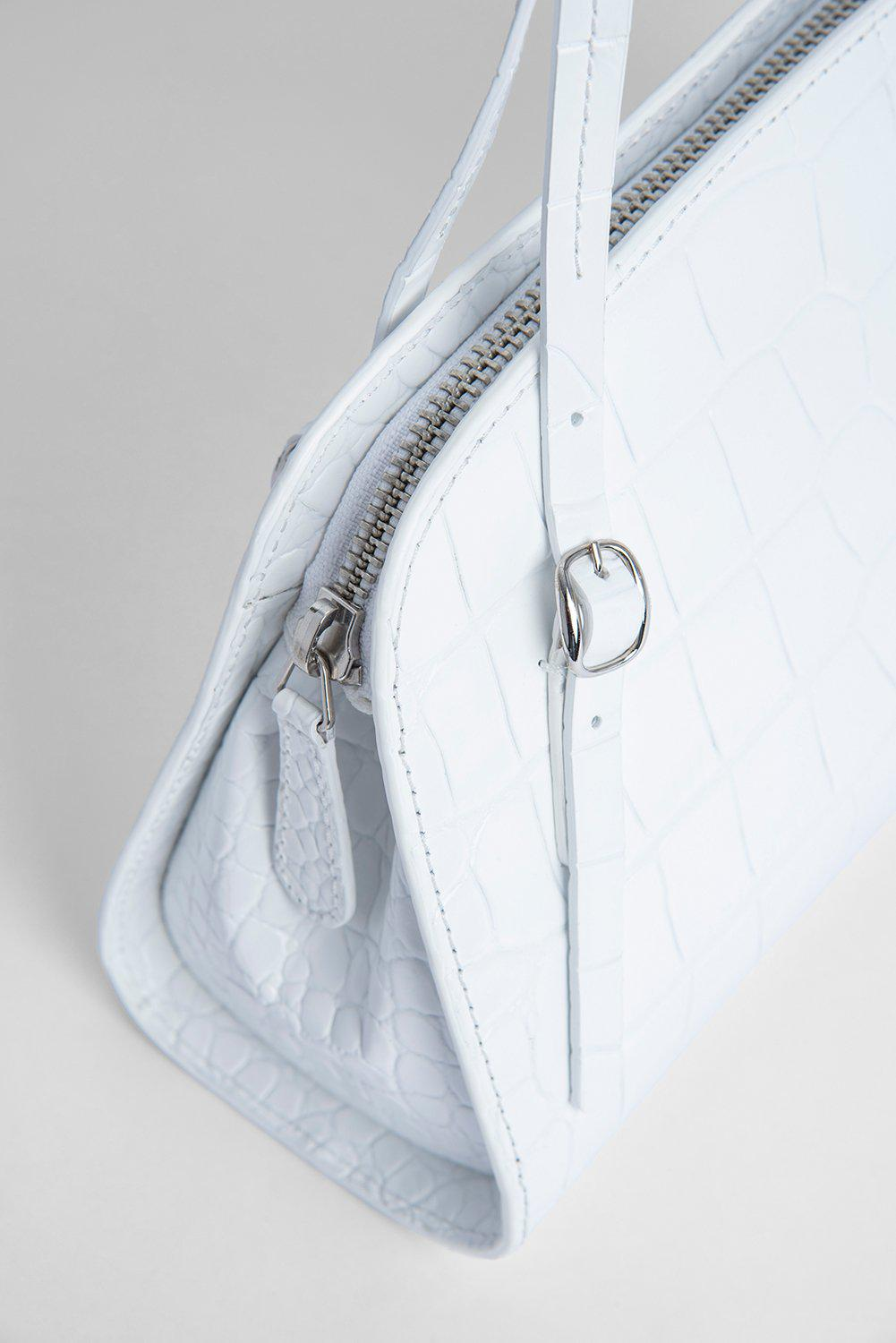 Lora White Croco Embossed Leather 2