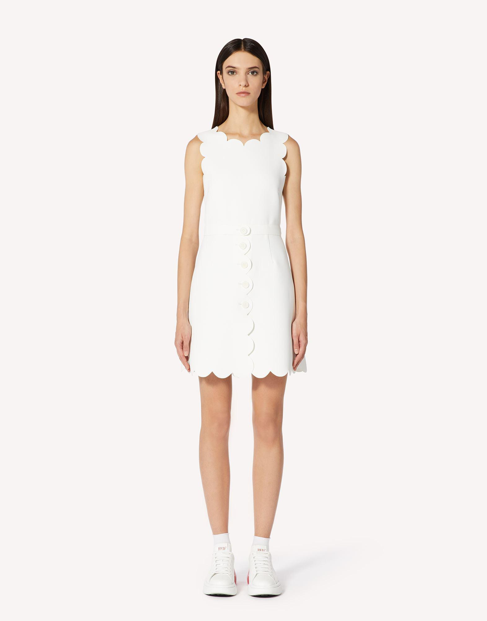 FUSED TECH DRESS WITH SCALLOP DETAIL