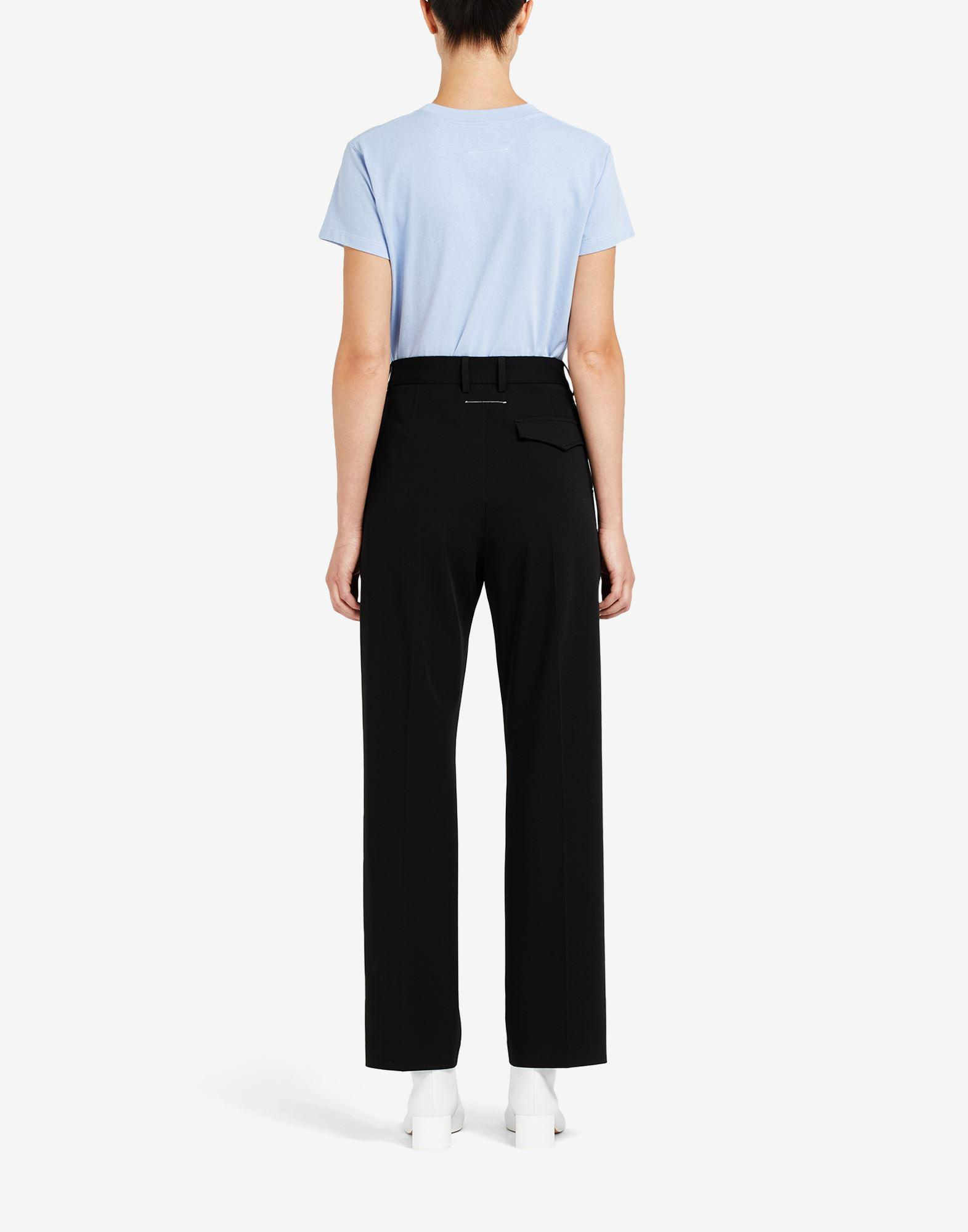 Badge pleated trousers 2