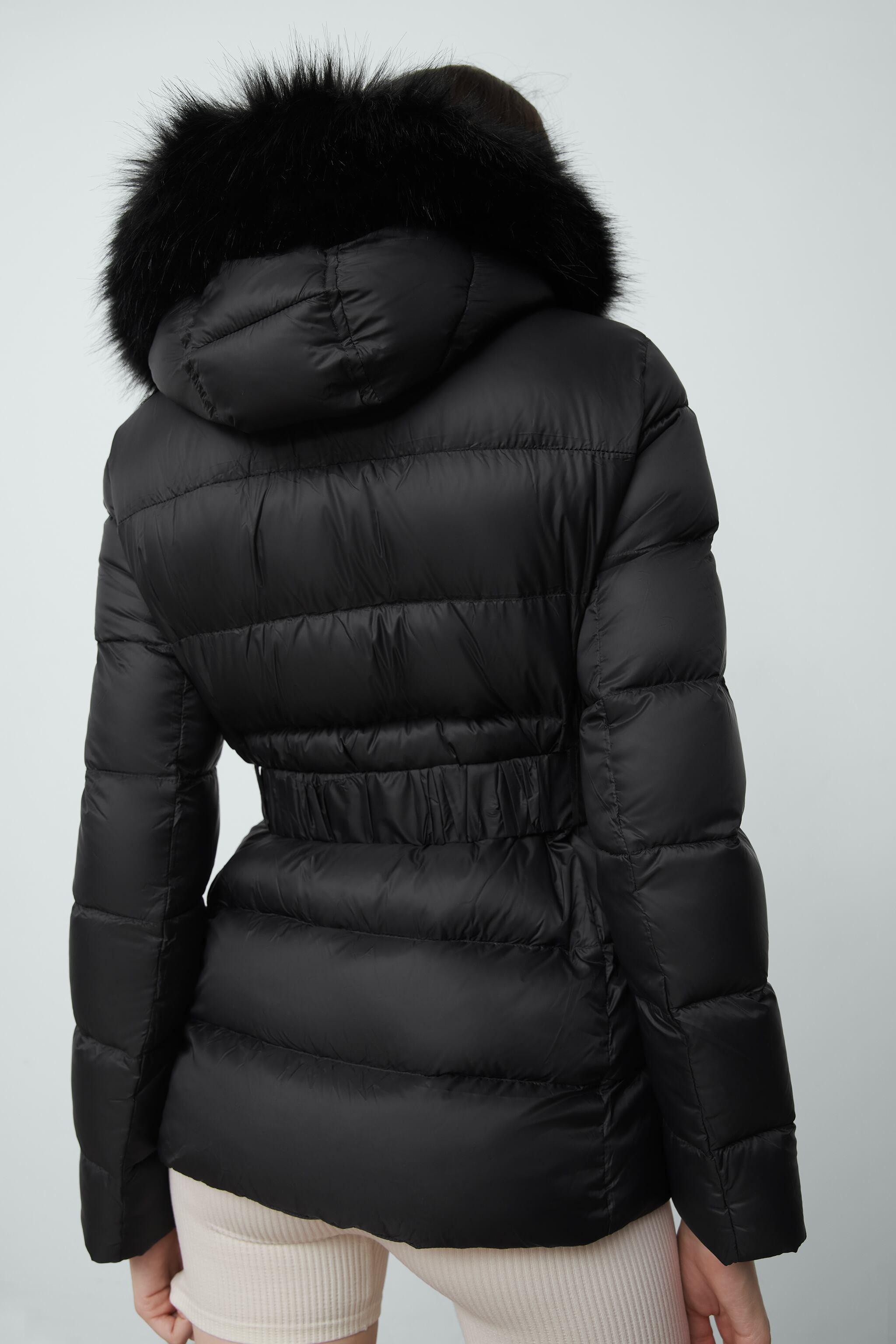 DOWN JACKET WITH FAUX FUR HOOD 2